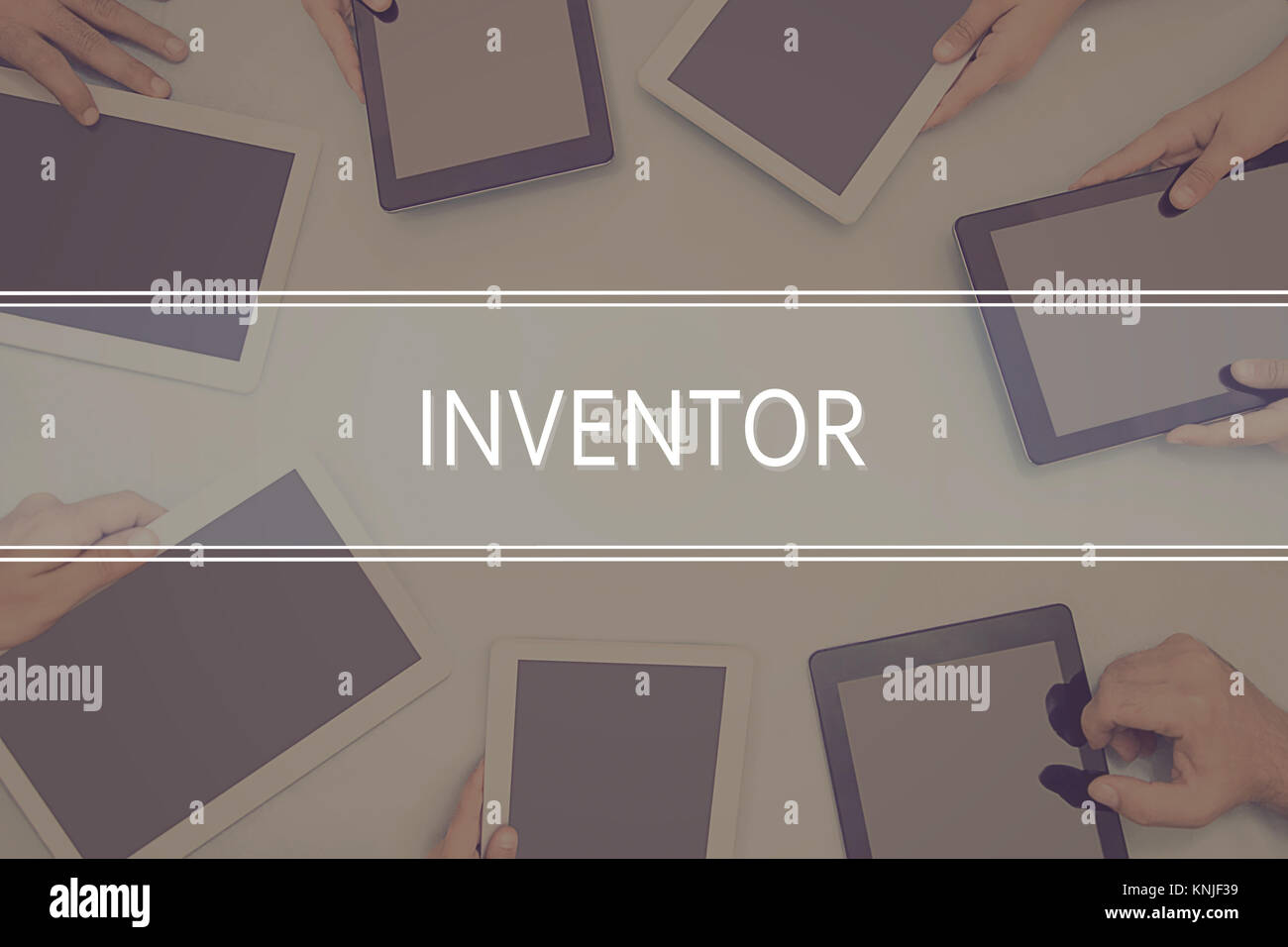 INVENTOR CONCEPT Business Concept. - Stock Image