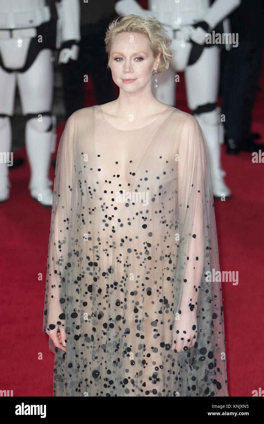 Royal Albert Hall, London, UK. 12th Dec, 2017. Gwendoline Christie arrives for the European Premiere of Star Wars - Stock Image