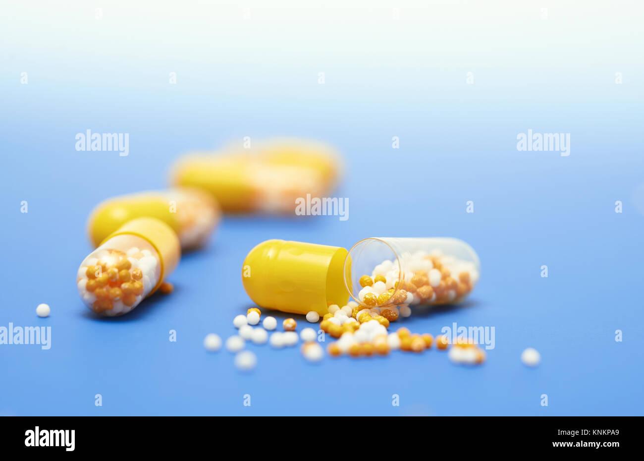 Open Pill Capsule Stock Photos & Open Pill Capsule Stock ...