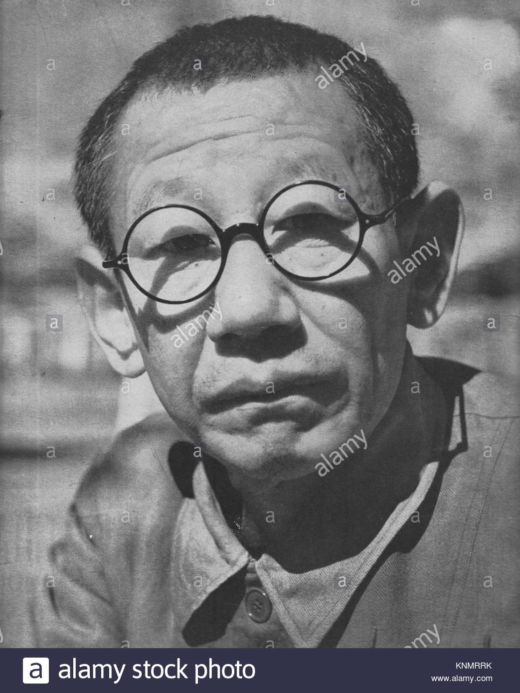 Hashimoto Kingorō (1890 – 1957) a colonel in the Imperial Japanese Army and politician in a 1945 photo. He was famous - Stock Image