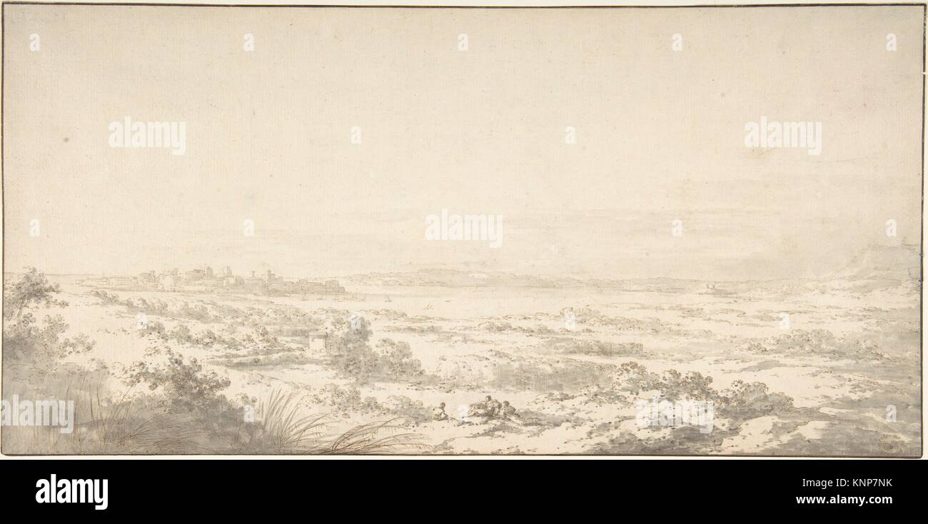 Distant View of Syracuse and its Harbor. Artist: Claude Louis Châtelet (French, Paris 1753-1794 Paris); Date: - Stock Image