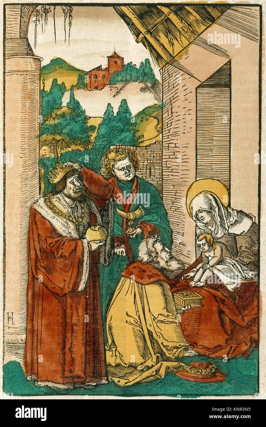 Das Plenarium oder Ewangely buoch: Summer und Winter teyl. Illustrator: Hans Schäufelein (German, Nuremberg - Stock Image