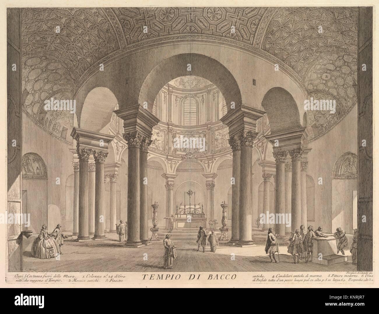 S. Constanza (erroneously callled Temple of Bacchus) (Veduta interna del Sepolcro di S. Constanza, fabbricato da - Stock Image