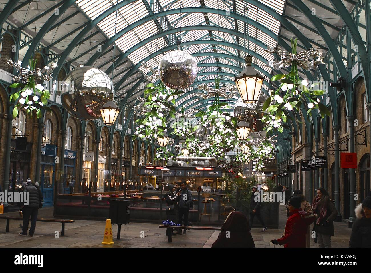 Covent Garden London England Christmas 2017 - Stock Image