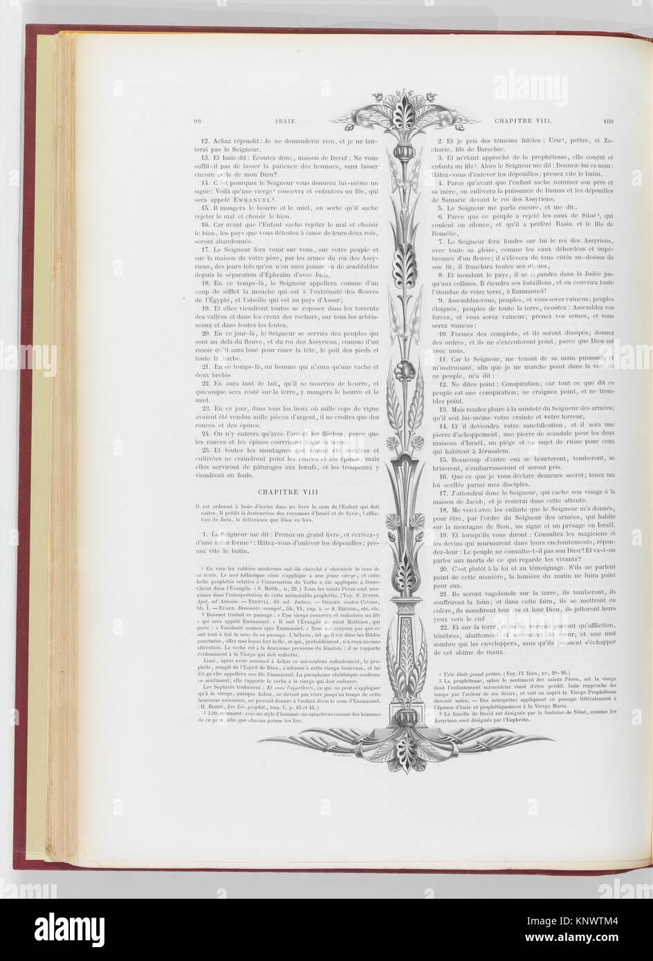 La Sainte Bible (vol. 2). Illustrator: Gustave Doré (French, Strasbourg 1832-1883 Paris); Illustrator: Hector - Stock Image