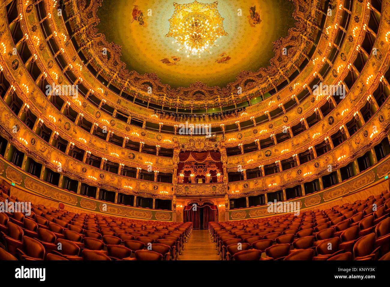 Teatro La Fenice (La Fenice Theater) opera house, Venice, Italy. - Stock Image