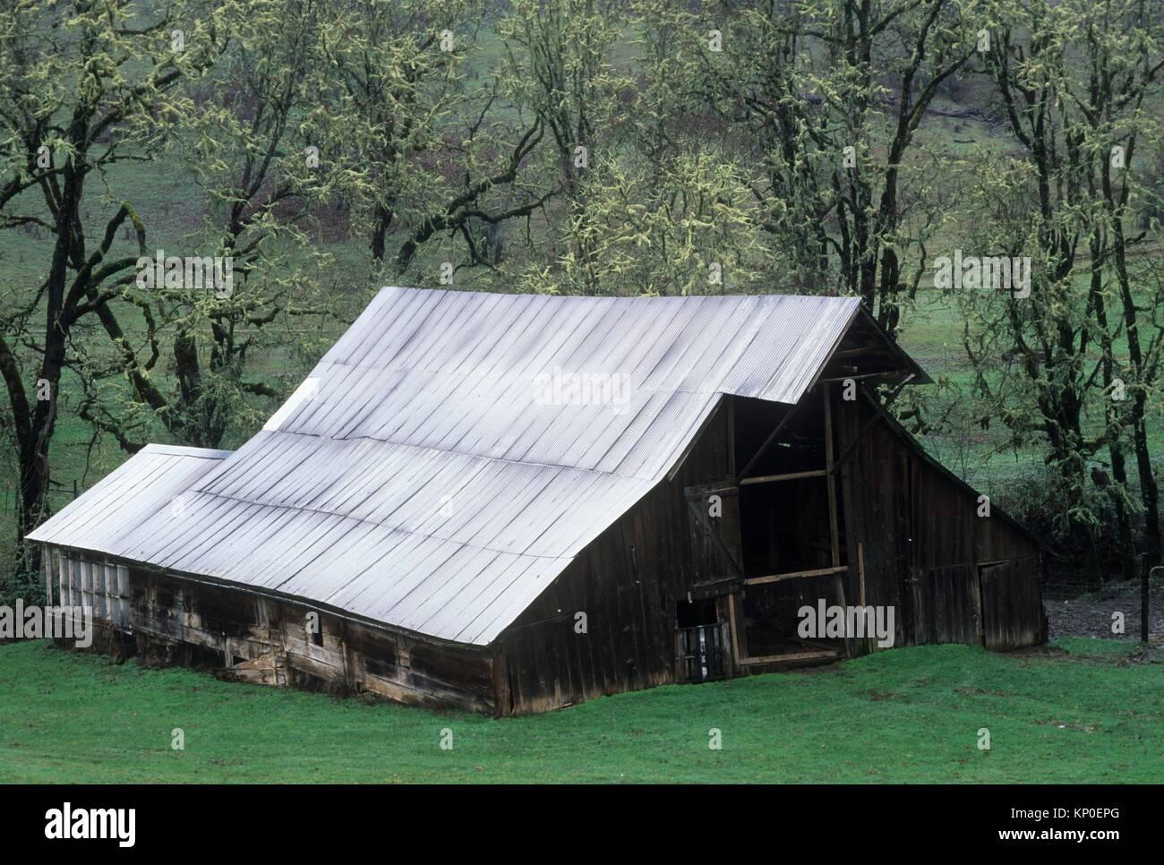 Barn, Mildred Kanipe County Park, Douglas County, Oregon. - Stock Image