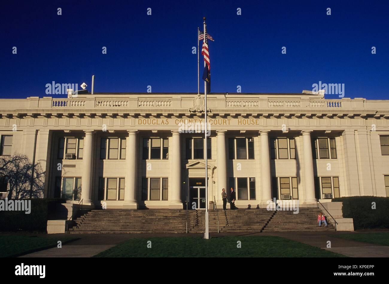 Douglas County Courthouse, Roseburg, Oregon. - Stock Image