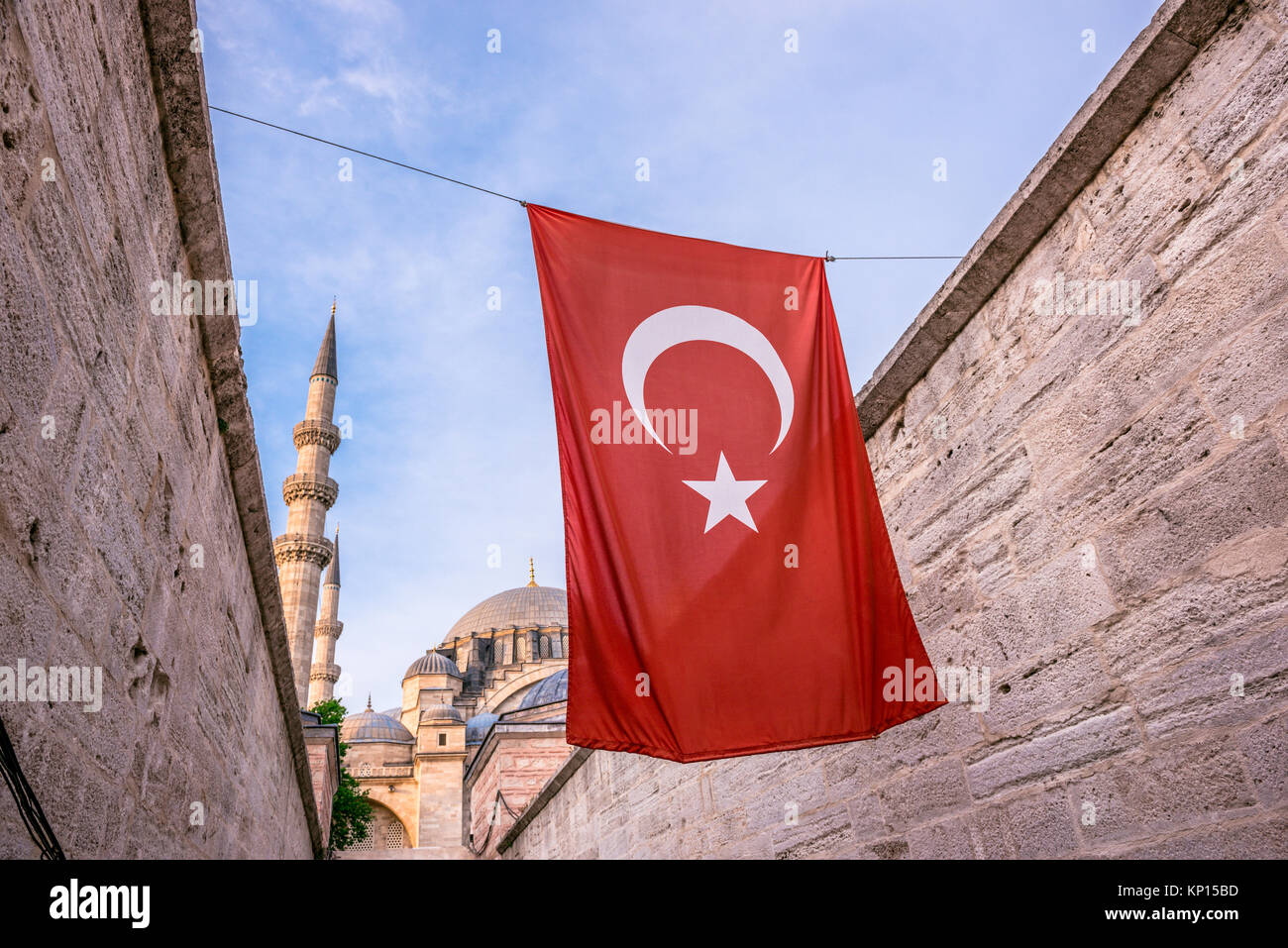 Exterior view of Suleymaniye mosque,decorated with Islamic elements and designed by Ottoman architect Sinan.Turkish - Stock Image