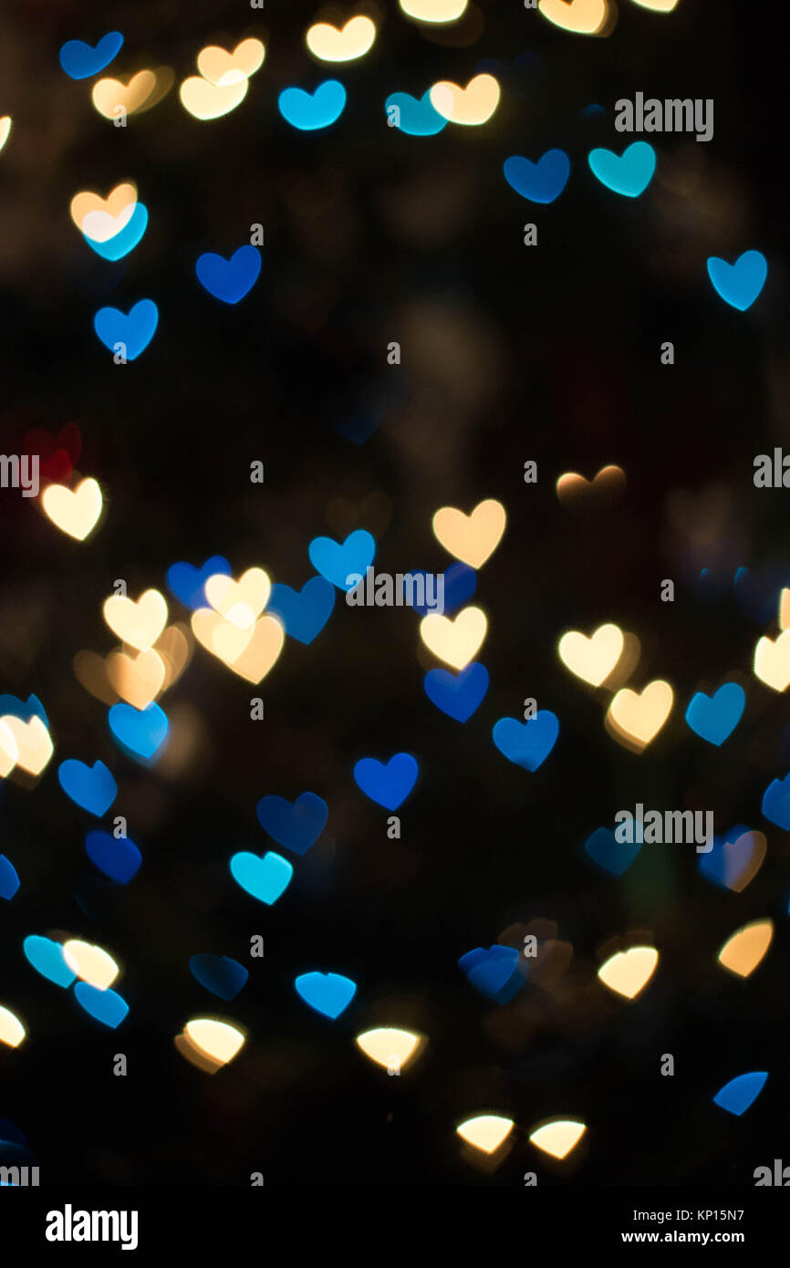 colorful bokeh or blurred lights background - Stock Image