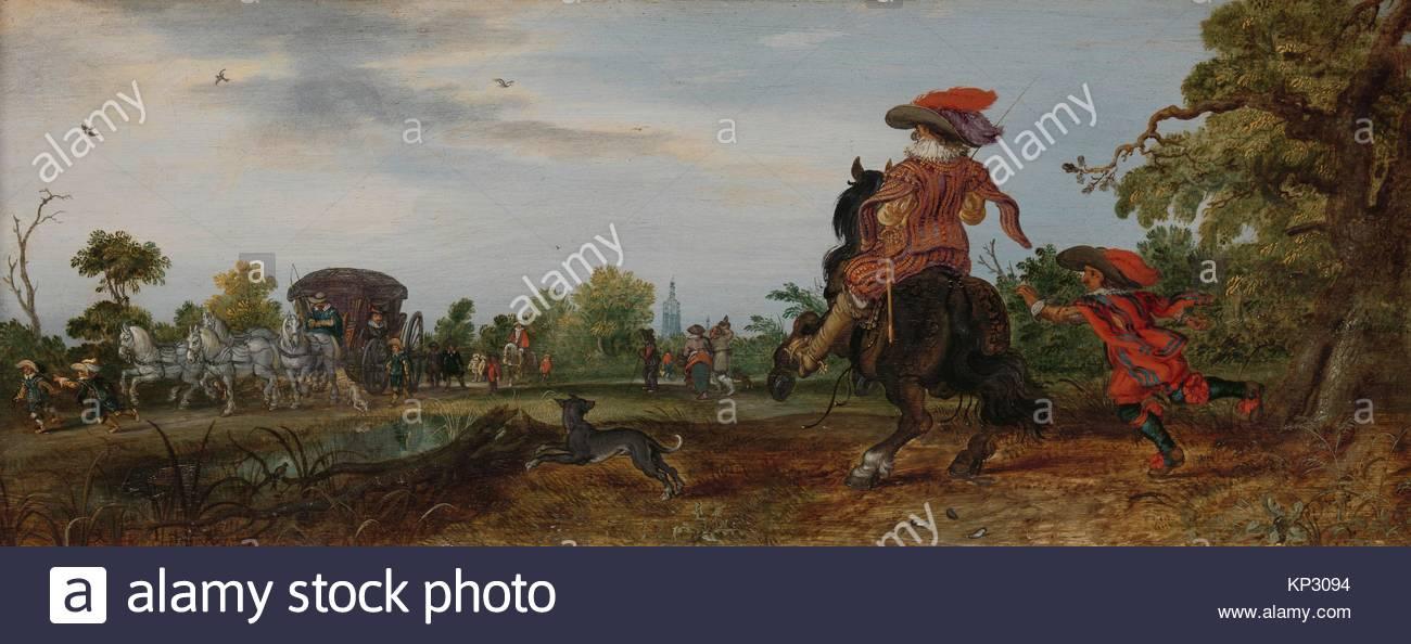 Summer (Greeting) Adriaen Pietersz. van de Venne, 1625, Rijksmuseum, Netherlands - Stock Image