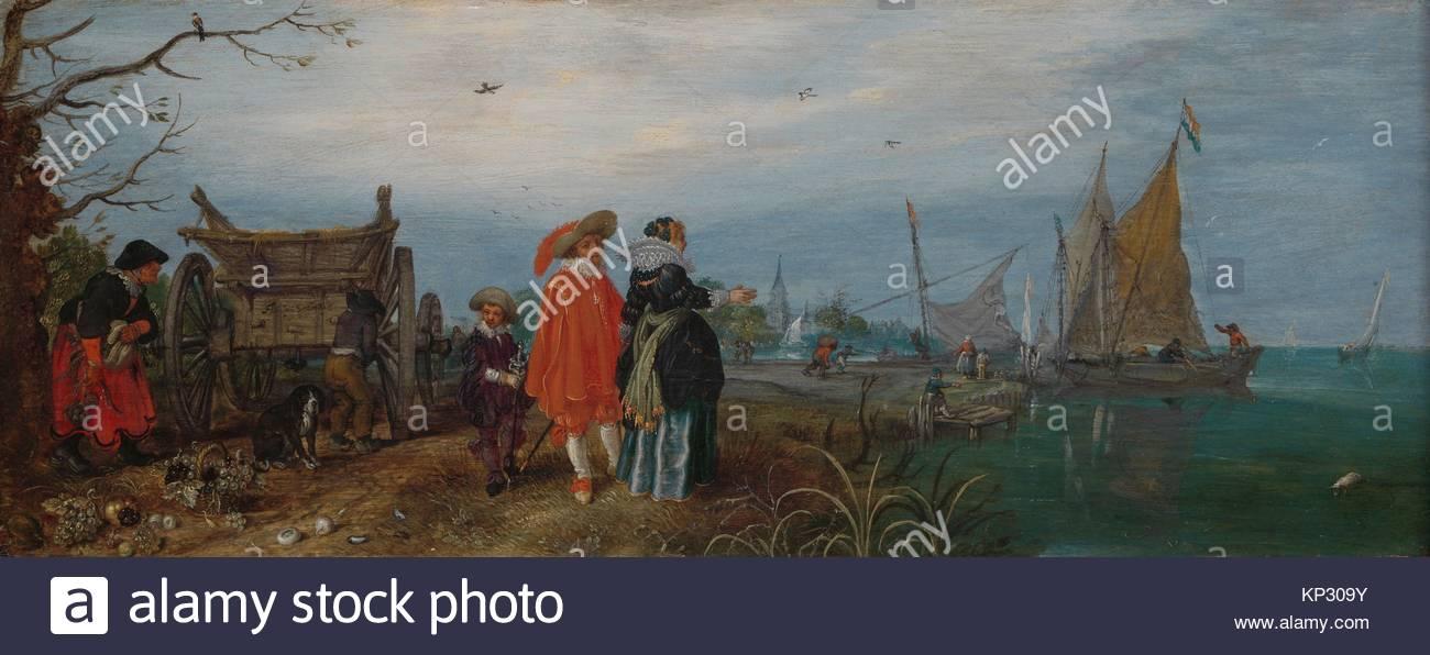 Autumn (Conversation) Adriaen Pietersz. van de Venne, 1625, Rijksmuseum, Netherlands - Stock Image