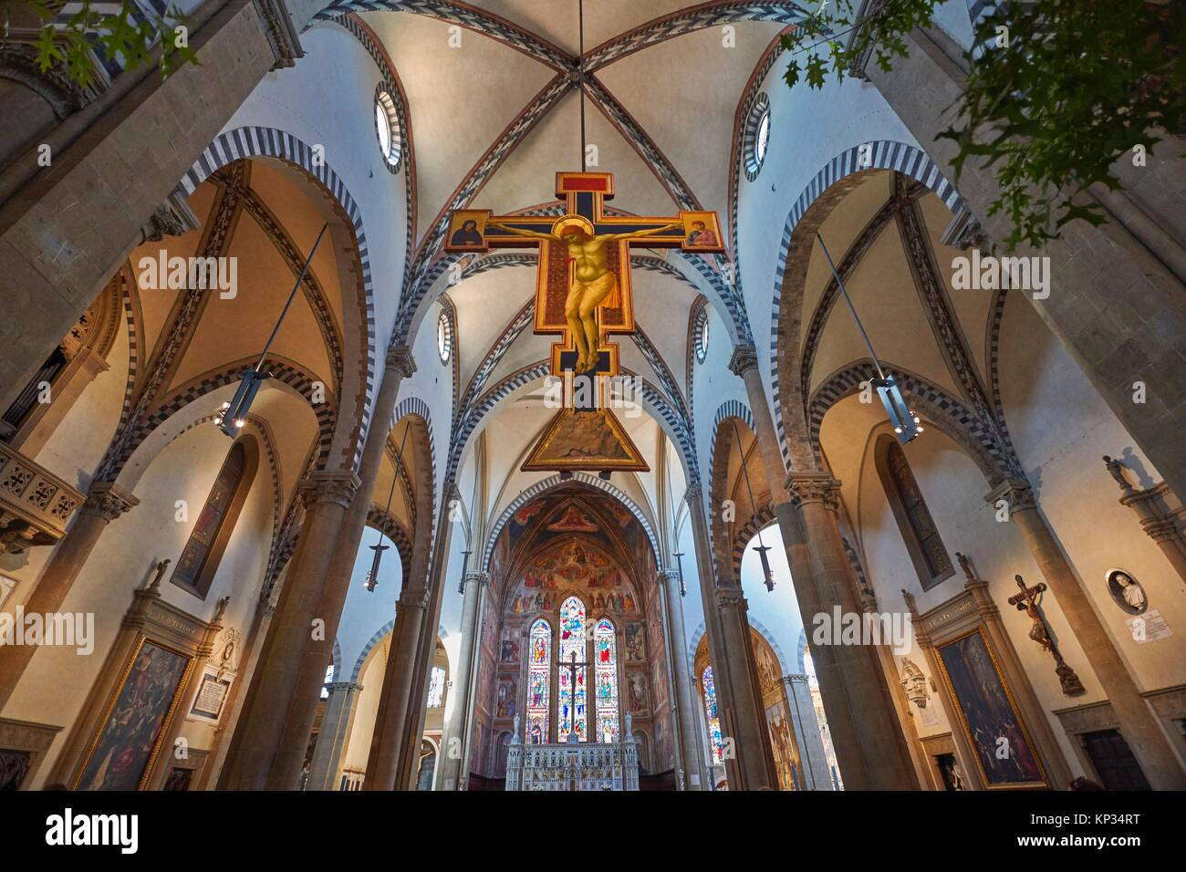 Santa Maria Novella is a church in Florence, Italy, situated just across from the main railway station named after - Stock Image