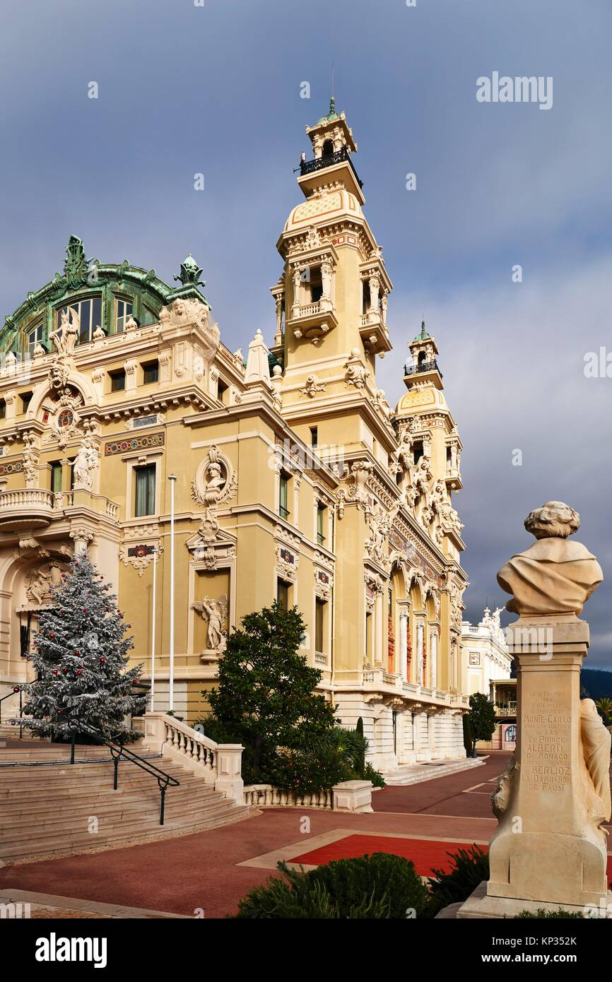 The Monte Carlo Casino is a gambling and entertainment complex located in Monaco. It includes a casino, the Grand - Stock Image