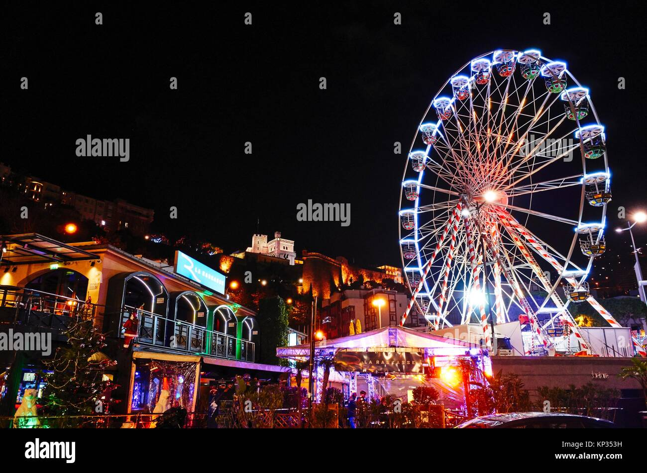 The amusement park by the port of Montecarlo, Monaco Principality - Stock Image