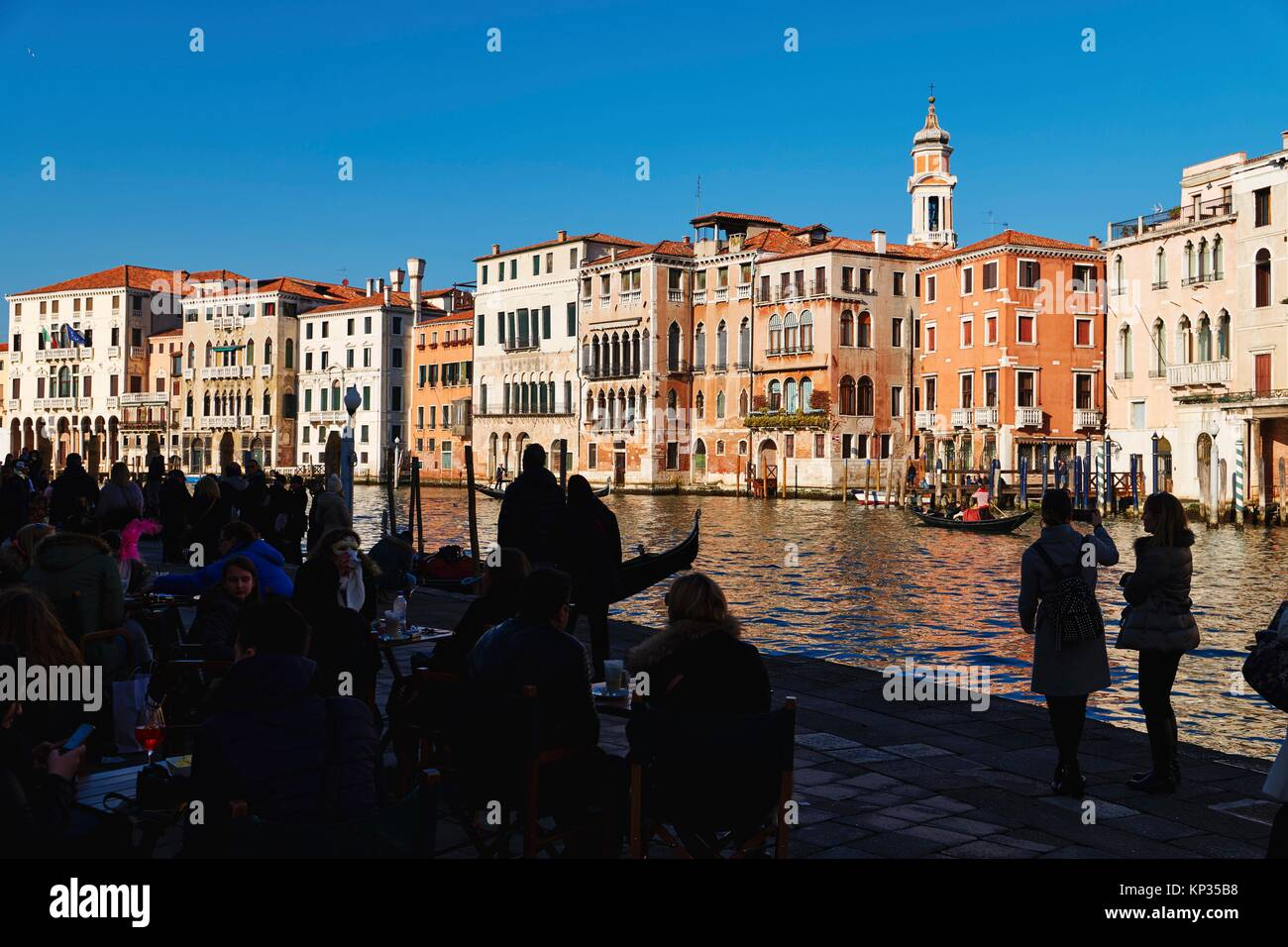 The Grand Canal in Venice, Italy - Stock Image