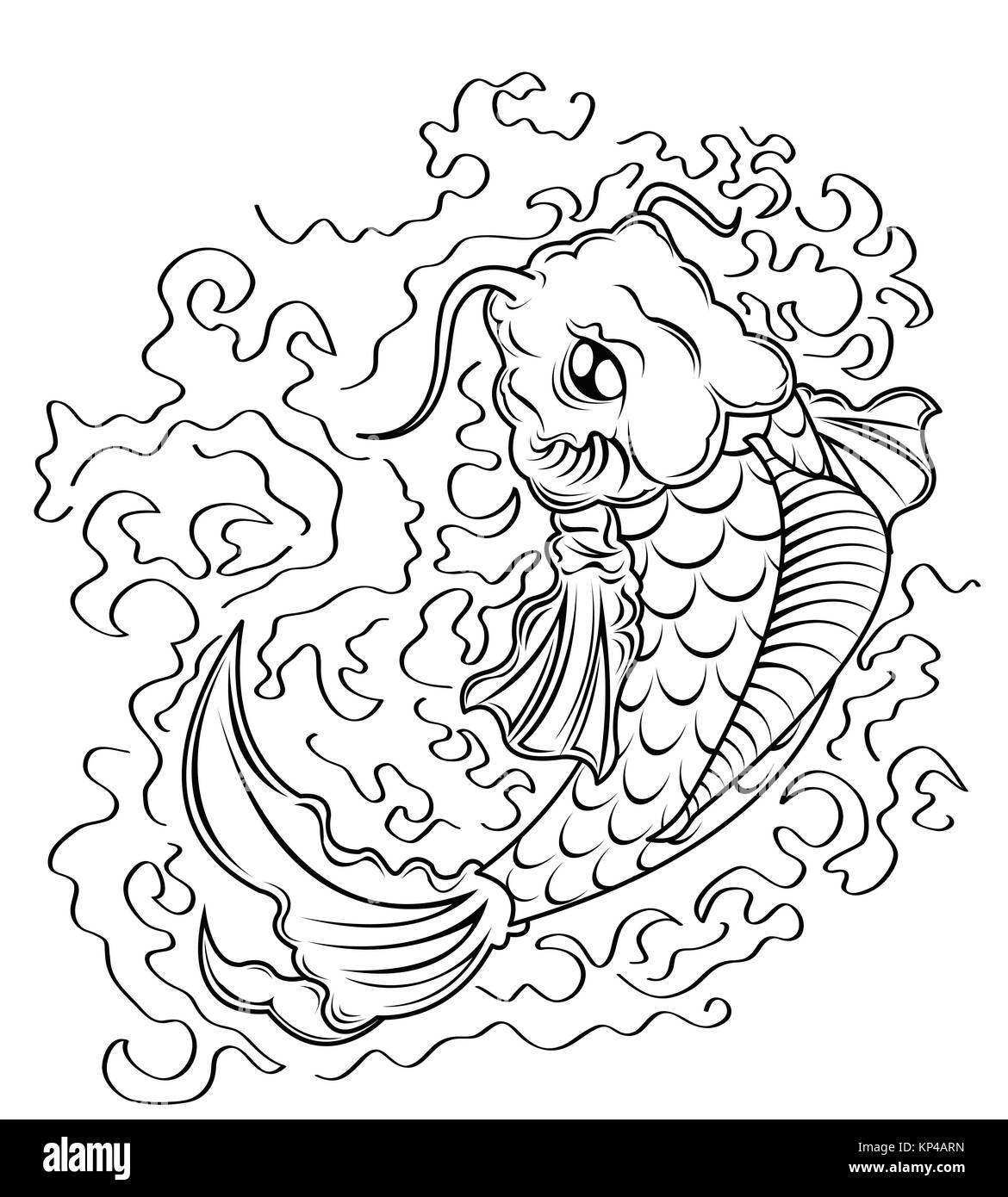 Koi carp tattoo stock photos koi carp tattoo stock for Koi fish vector