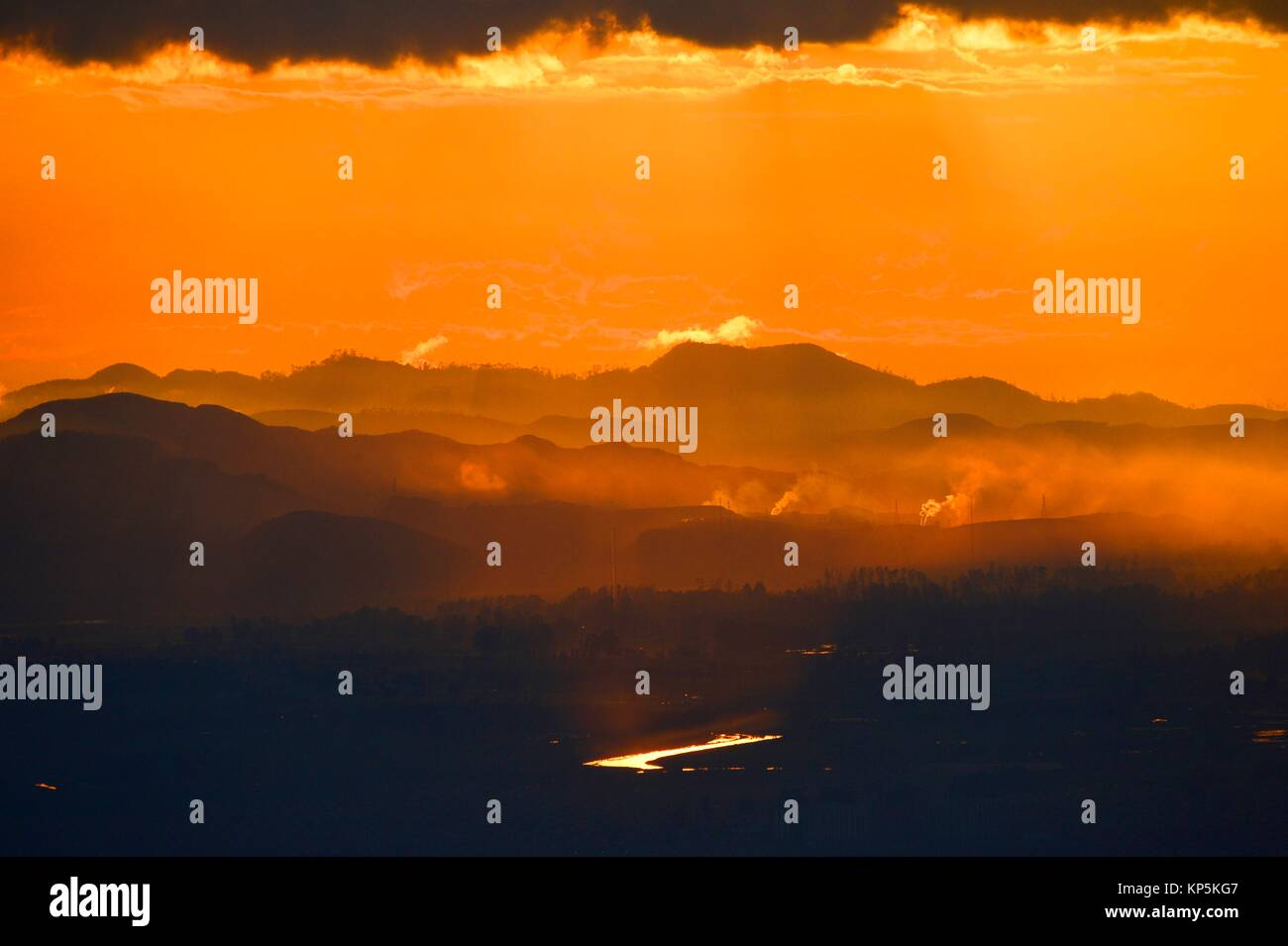 Sunset over Bogota,Colombia. - Stock Image