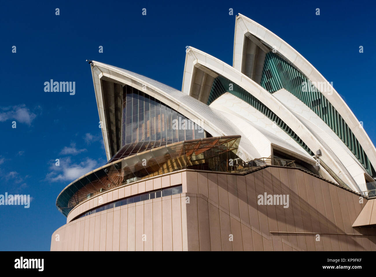 The iconic architecture of the Sydney Opera House in the city of Sydney in Australia. - Stock Image