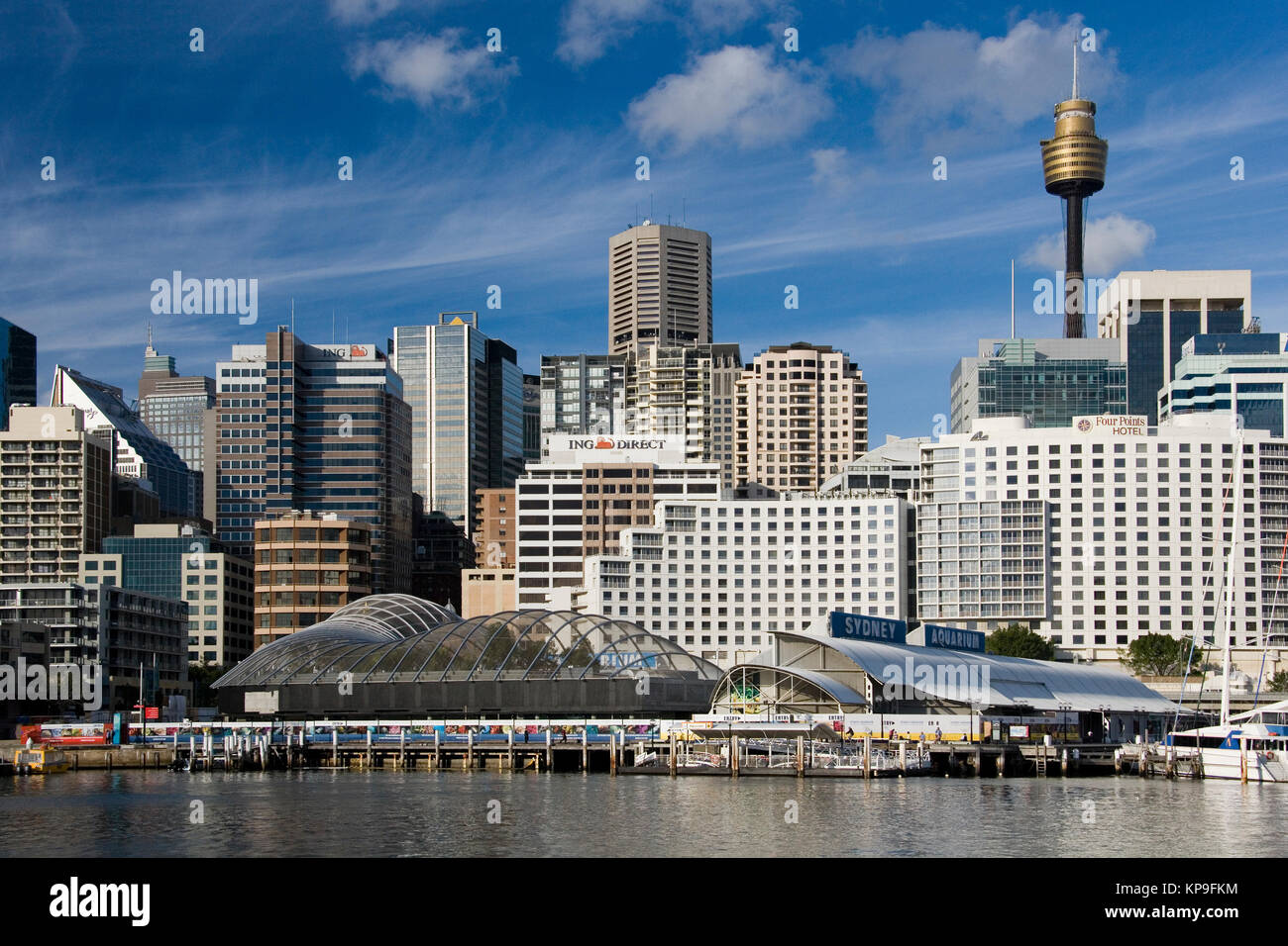 Sydney skyline at Darling Harbor in the city of Sydney in New South Wales, Australia. - Stock Image
