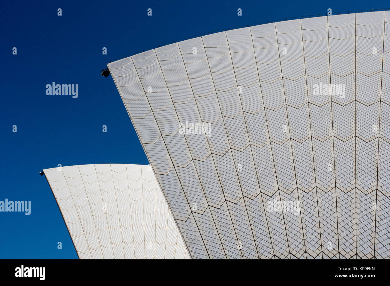 Detail of the roof design of the Sydney Opera House in the city of Sydney in New South Wales, Australia. - Stock Image