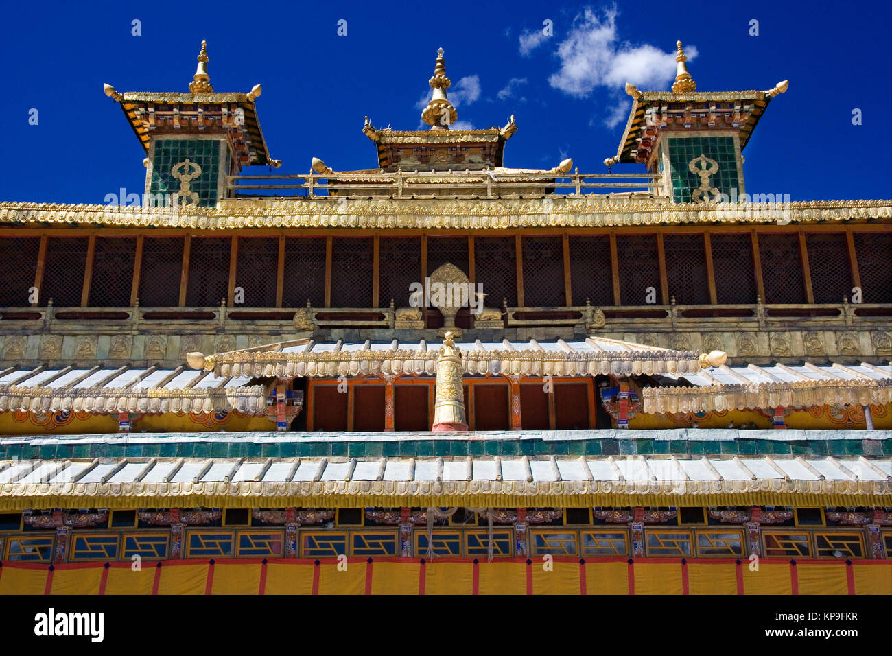 Rooftops of the Sera Buddhist Monastery in the Tibet Autonomous Region of China. - Stock Image