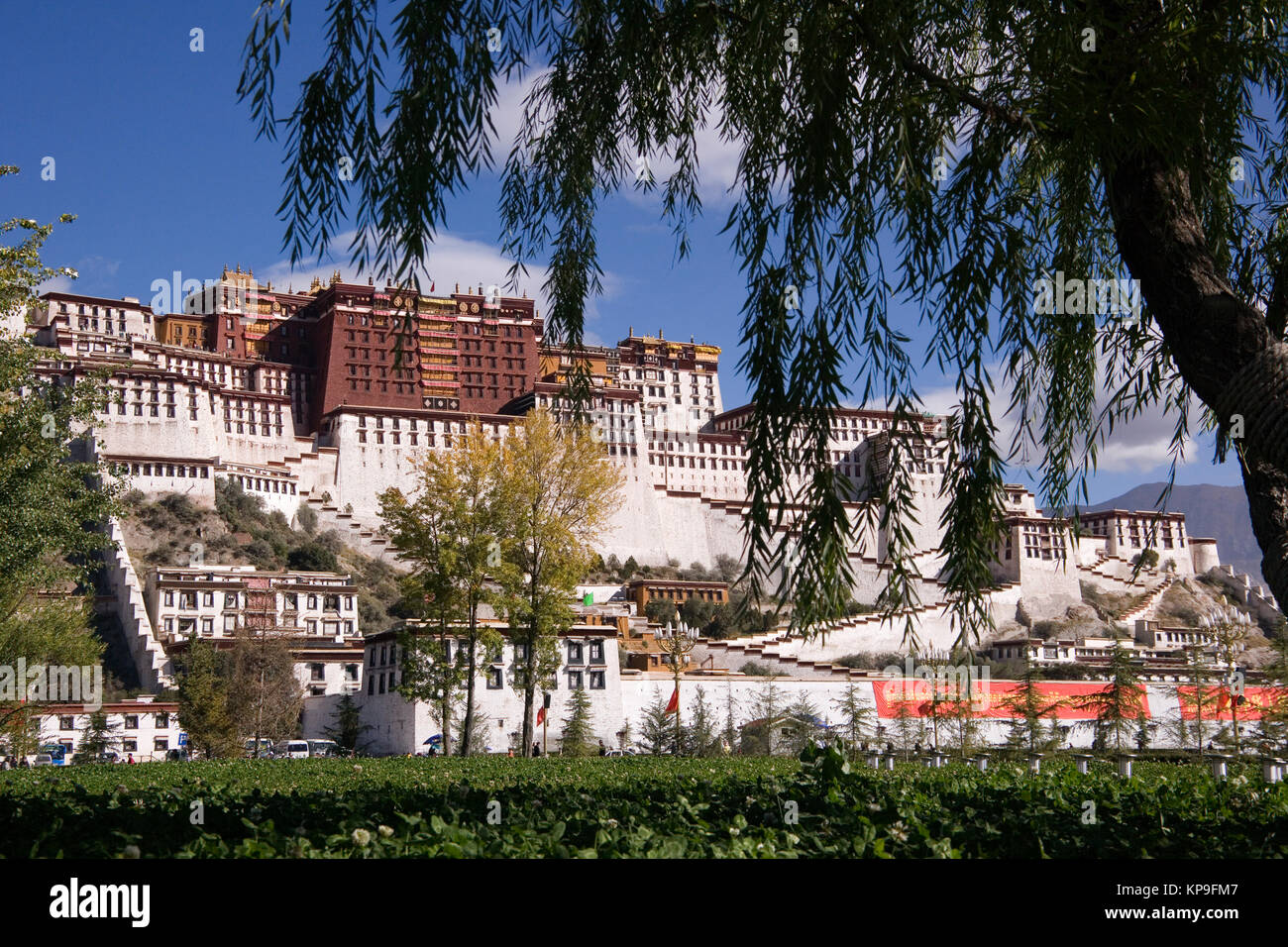The Potala Palace in the city of Lhasa in Tibet, People's Republic of China. - Stock Image