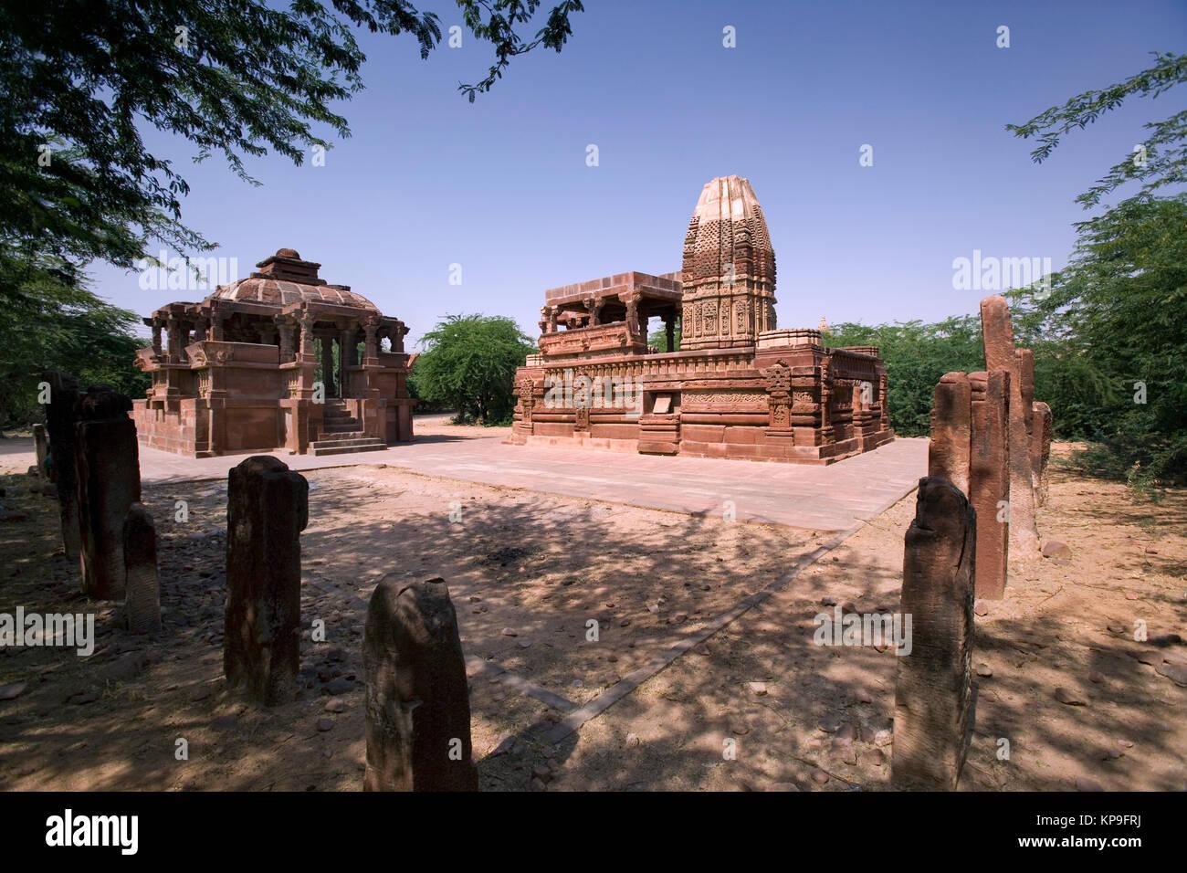 Harihara Temple in the town of Osian in western Rajasthan near Jodhpur in India. - Stock Image