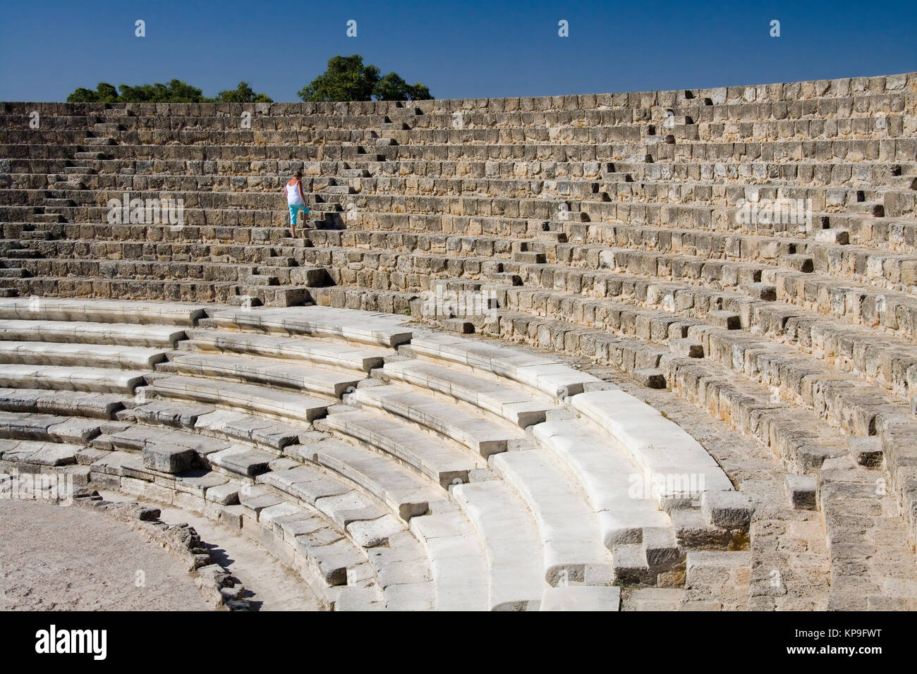 The Amphitheater at the ruins of Salimis in Northern (Turkish) Cyprus. These ruins date back to the 11th Century - Stock Image
