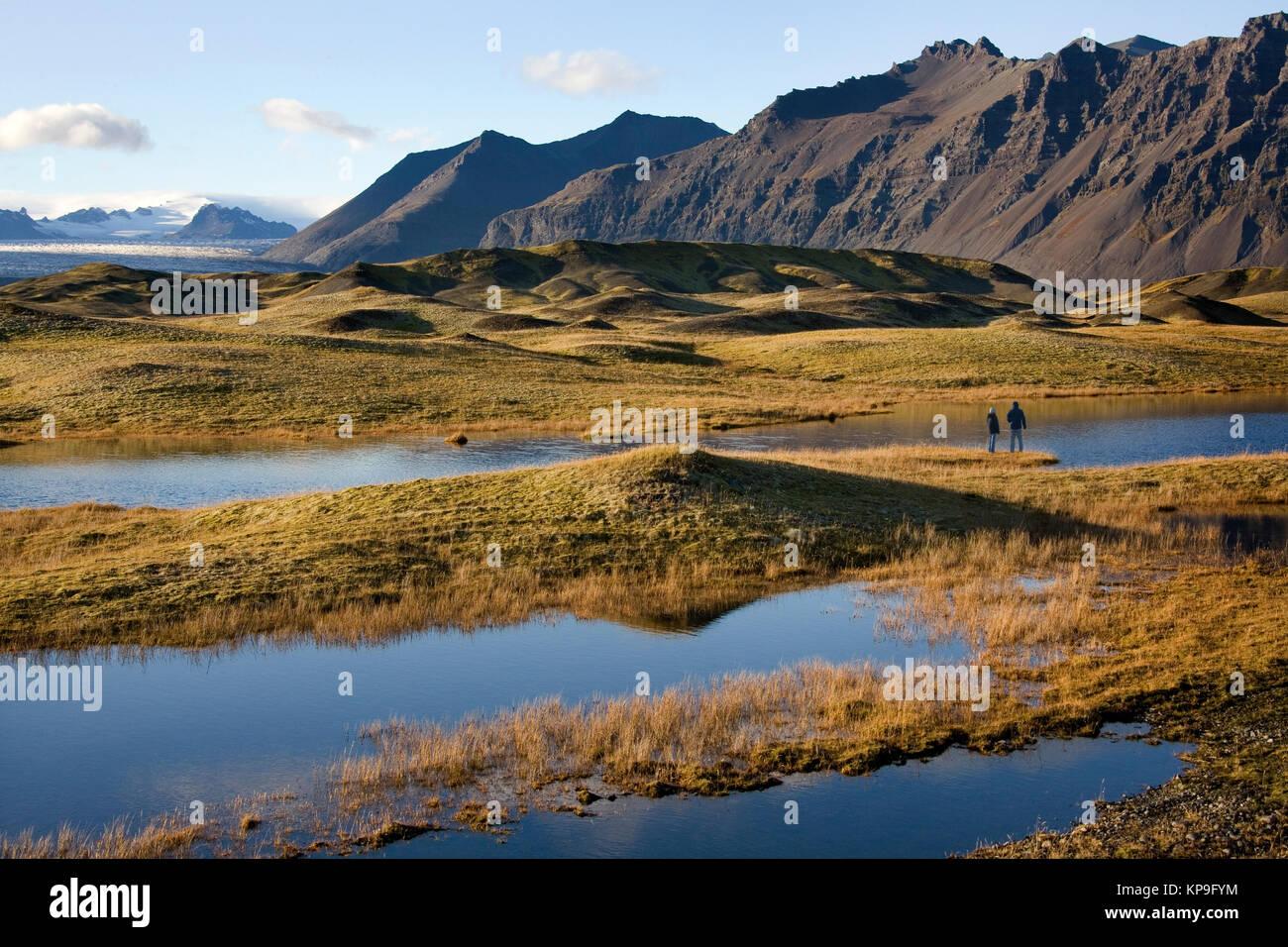 Landscape near Hofn on the south coast of Iceland - Stock Image