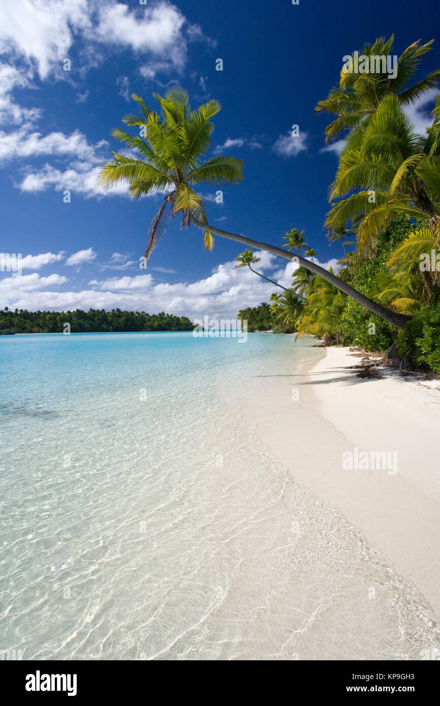 Aitutaki Lagoon in the Cook Islands in the South Pacific Ocean - Stock Image