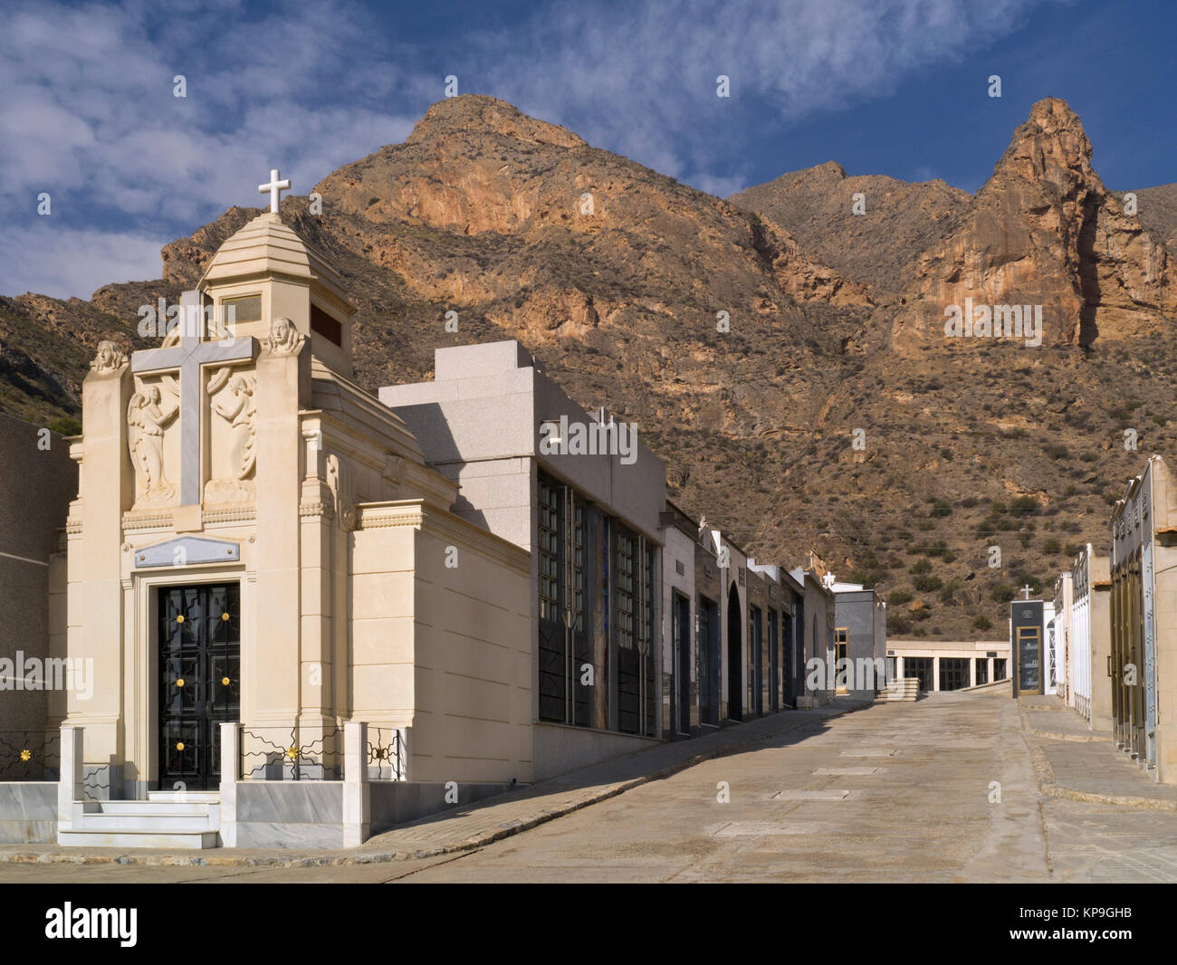 The Callosa De Segura Cemetery on the Costa Blanca in Spain. - Stock Image