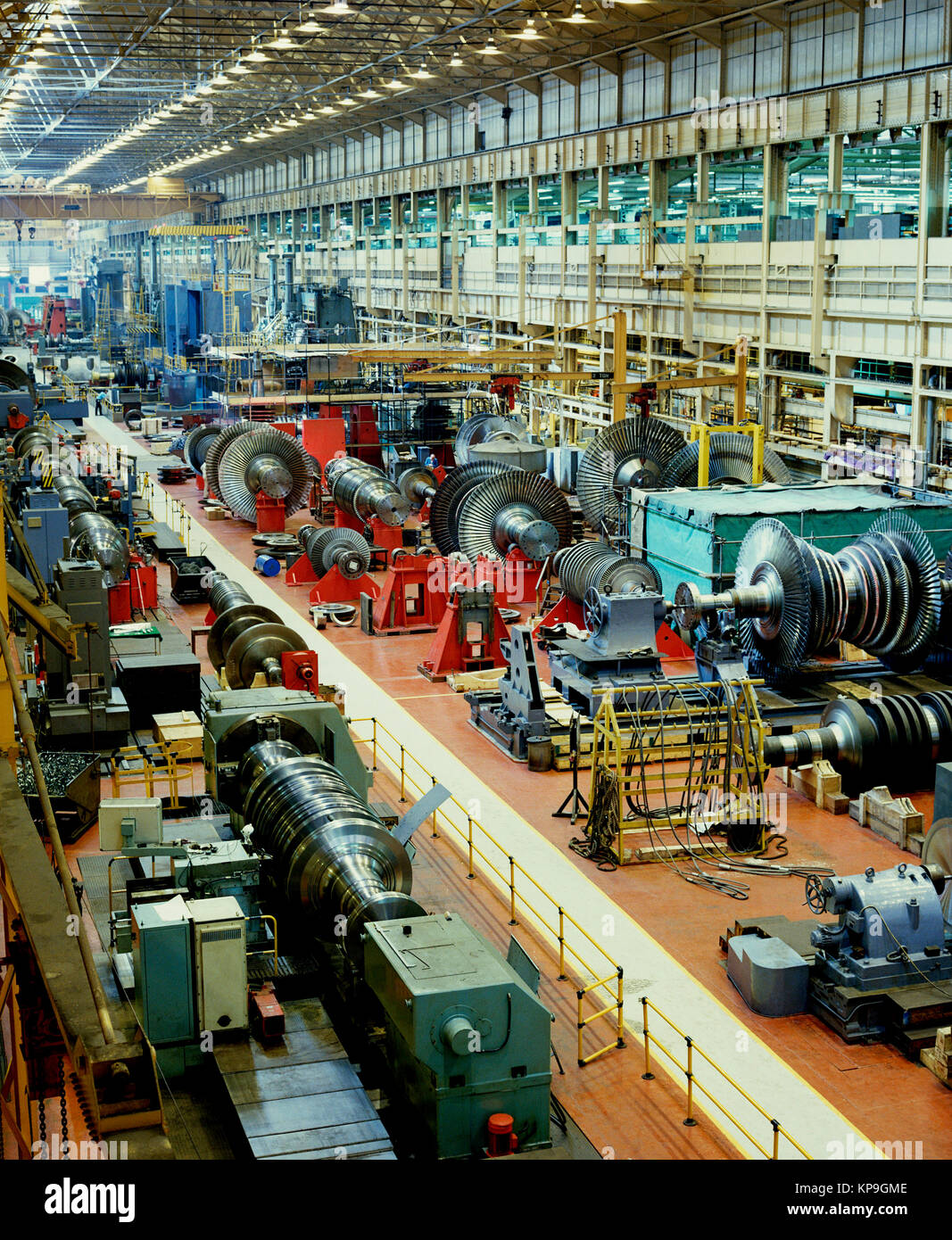 Heavy Industry - the manufacture of steam turbines for the power generation industry. Manchester, United Kingdom. - Stock Image