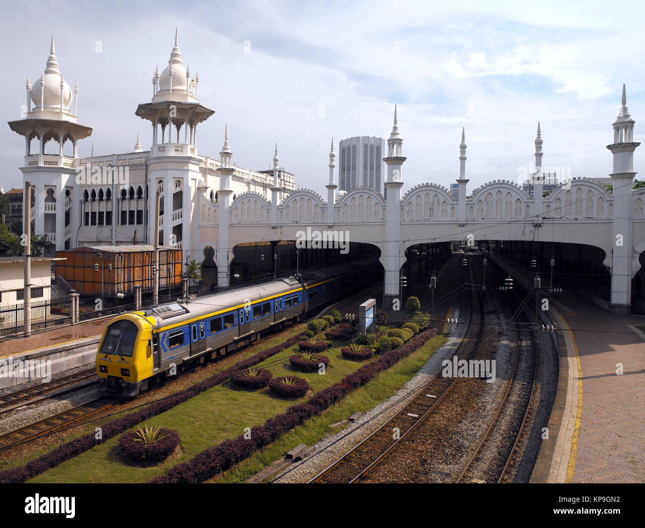 The main railway station in the city of Kuala Lumpar in Malaysia. - Stock Image