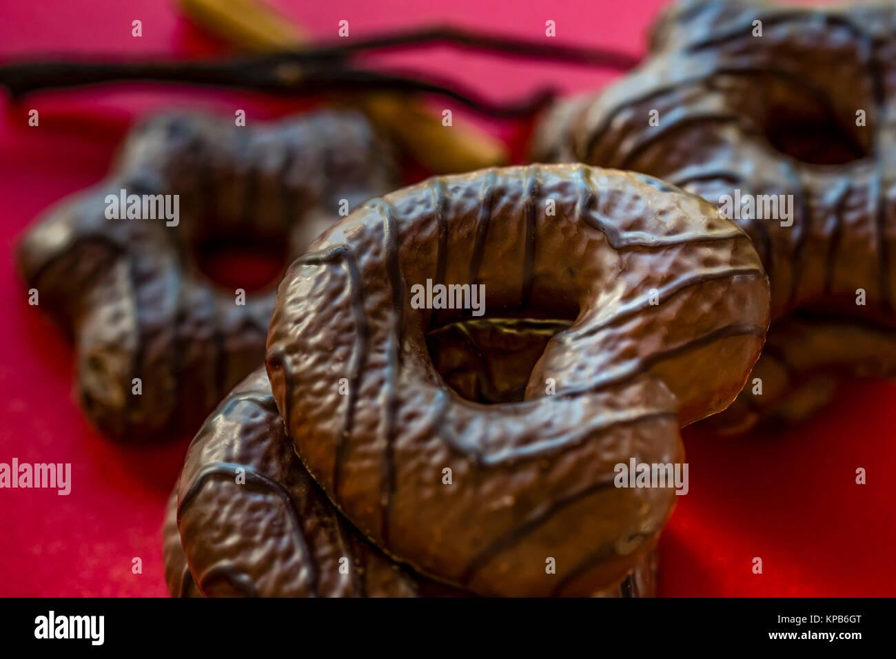 German Chocolate Covered Gingerbread Cookies