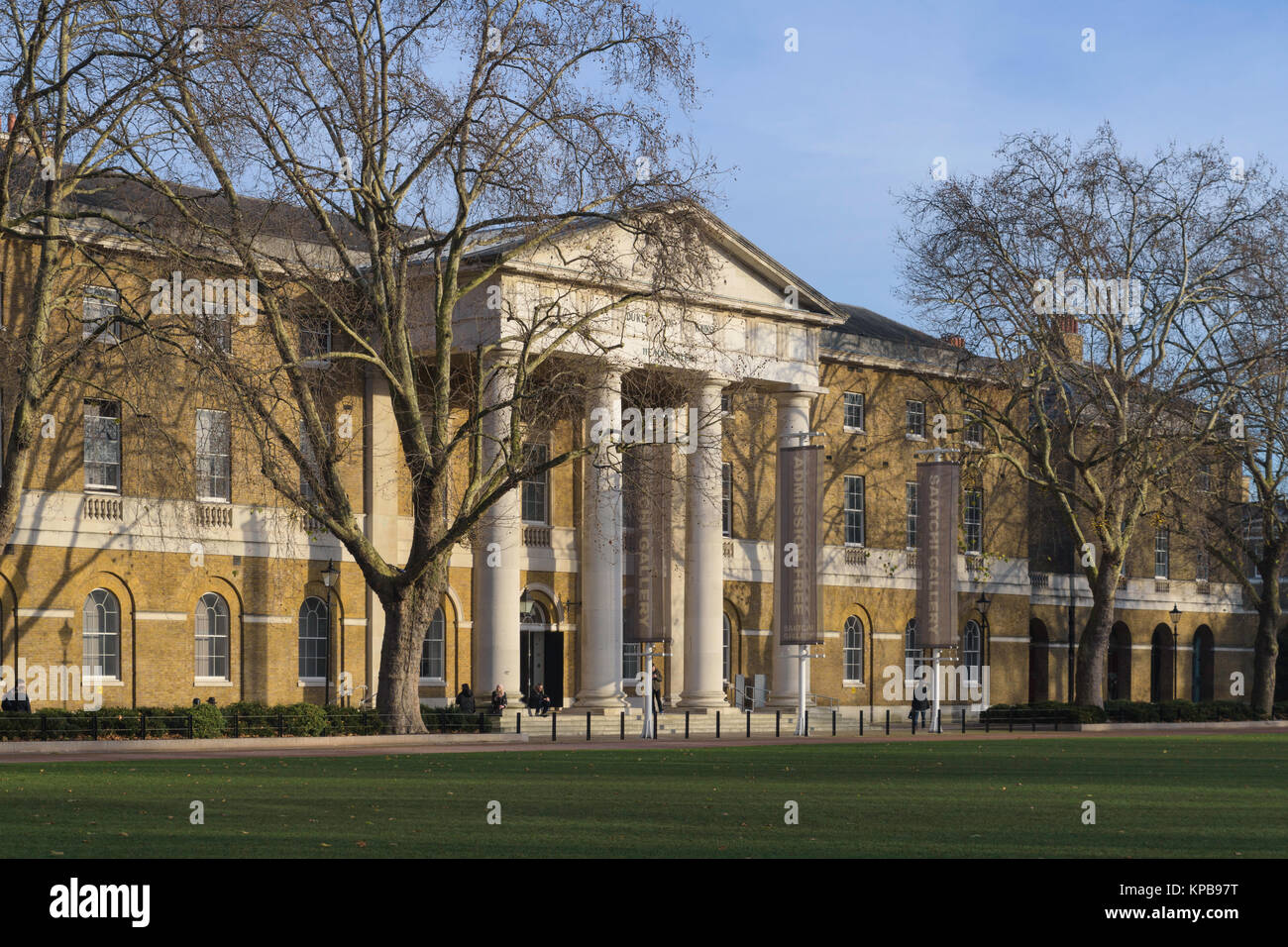 Exterior of the Saatchi Gallery at the former Duke of York's Barracks, Chelsea, London, England, UK - Stock Image