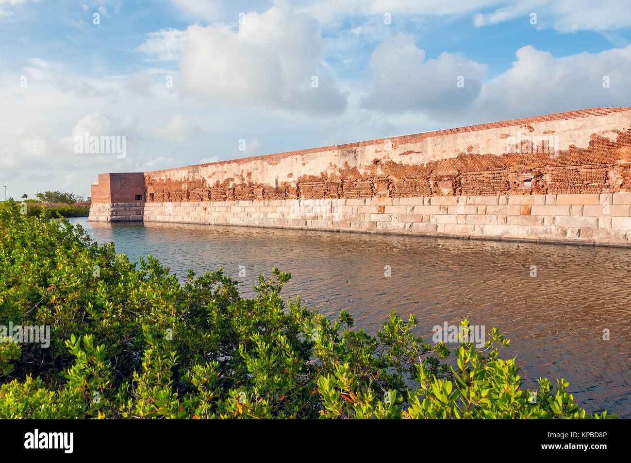 Fort Zachary Taylor Historic State Park moat and walls, Key West Florida - Stock Image