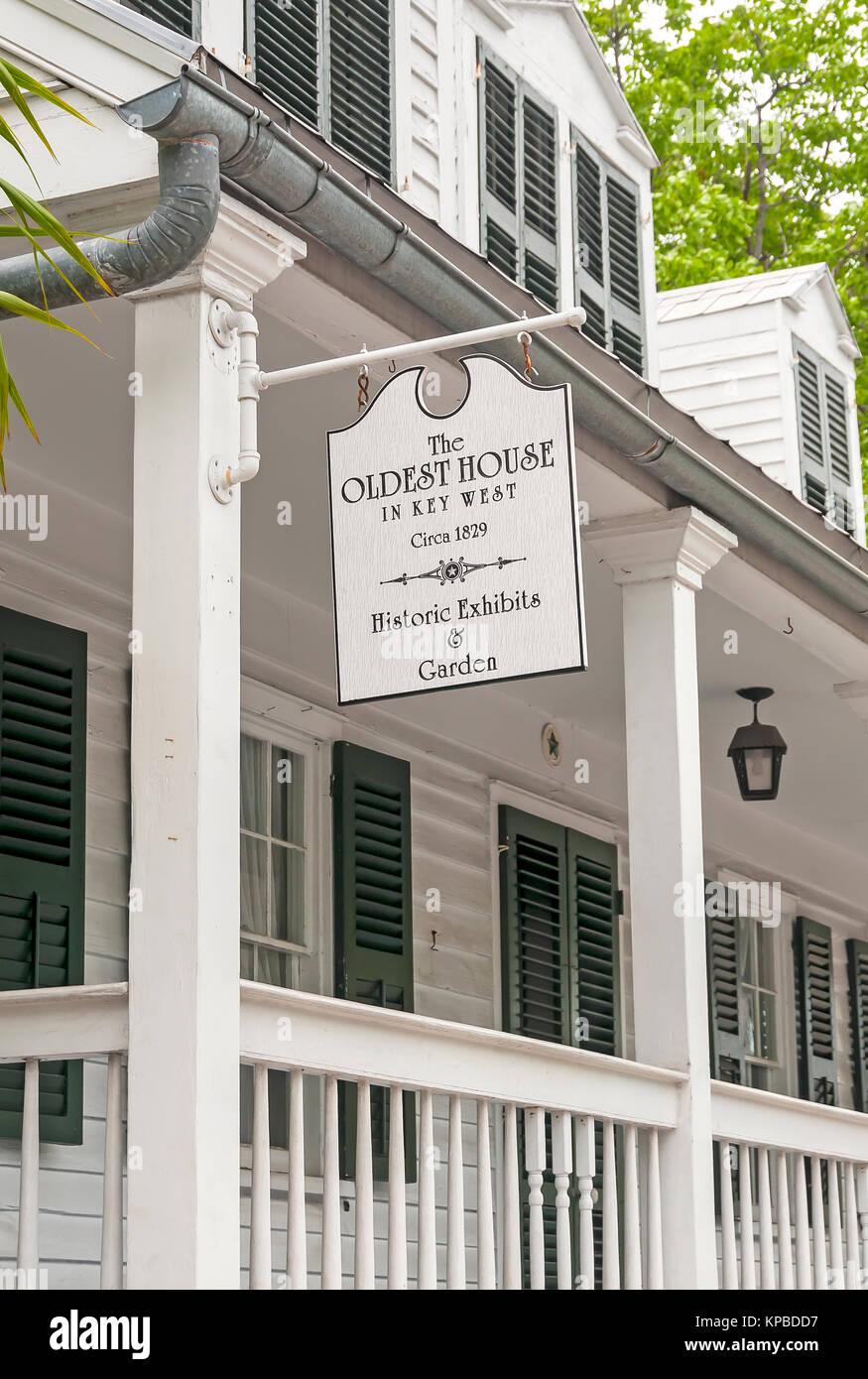 Oldest house in Key West built 1829, Key West, Florida - Stock Image