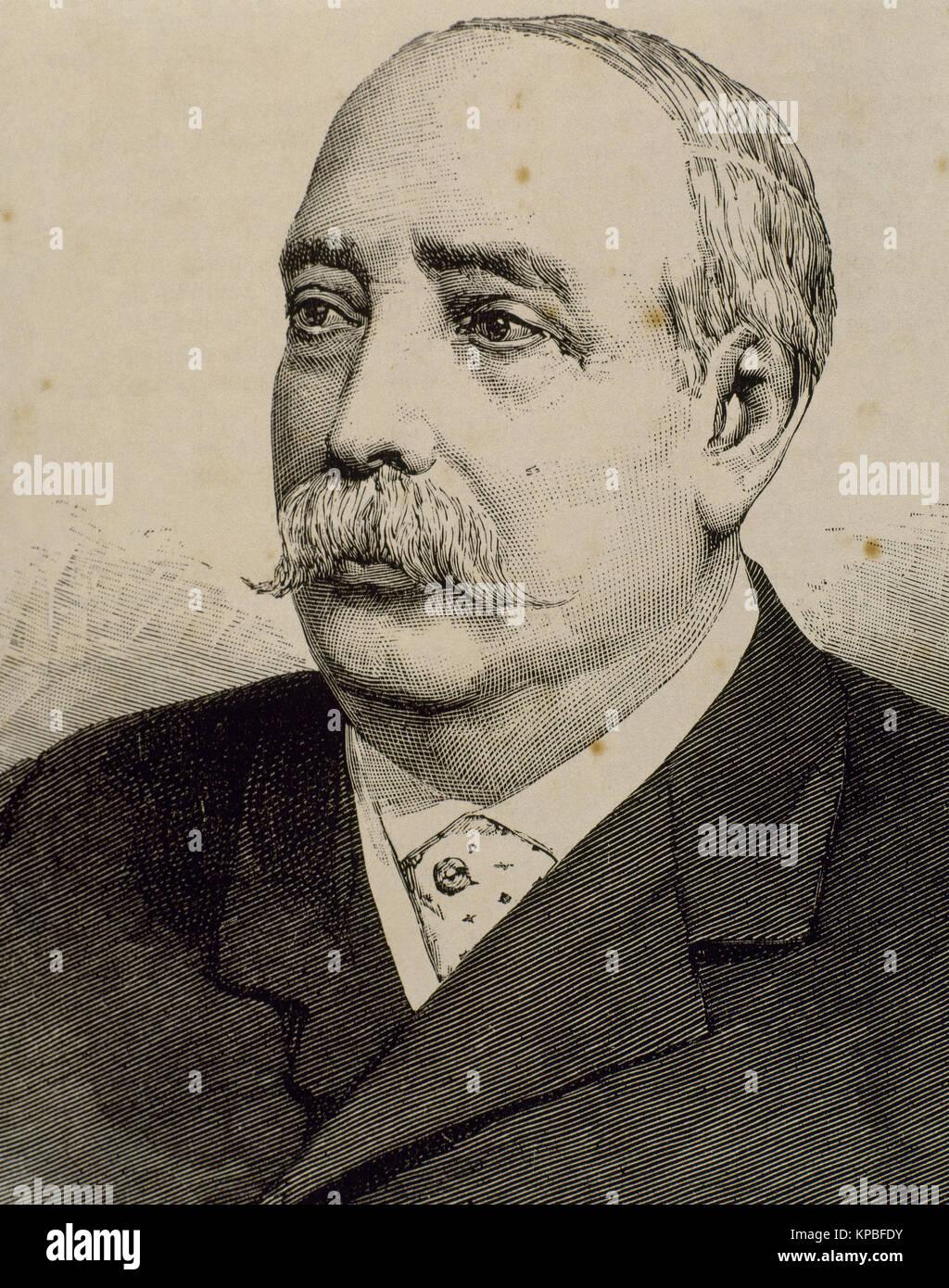 Jose Maria Escriva de Romaní y Dusay (1825-1890), III marquis of Monistrol de Noya, 14th baron of Beniparrell, - Stock Image