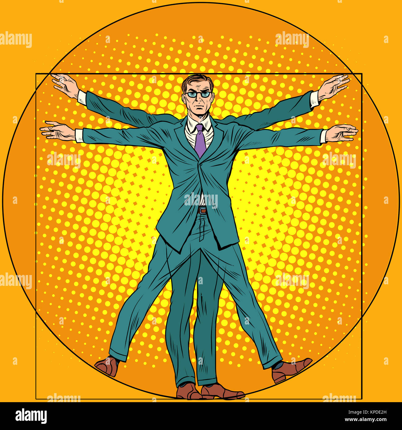 Vitruvian Man Drawing Stock Photos & Vitruvian Man Drawing ...