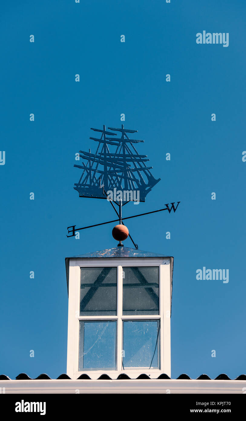 Weather vane on a building at the V&A Waterfront in Cape Town, South Africa - Stock Image