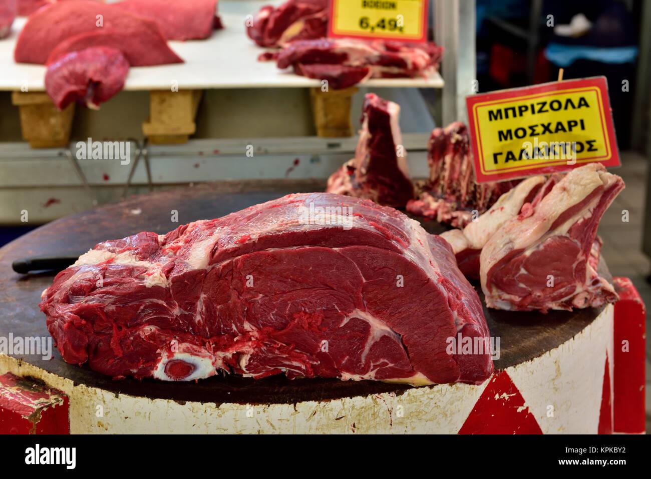butchers block beef stock photos butchers block beef. Black Bedroom Furniture Sets. Home Design Ideas