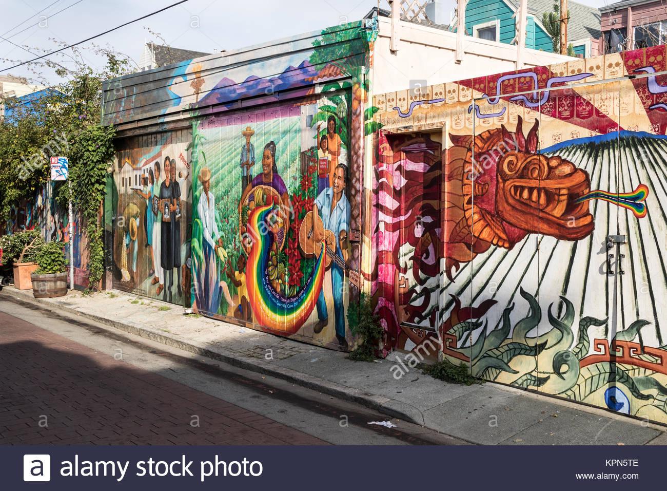 San francisco murals stock photos san francisco murals for California mural