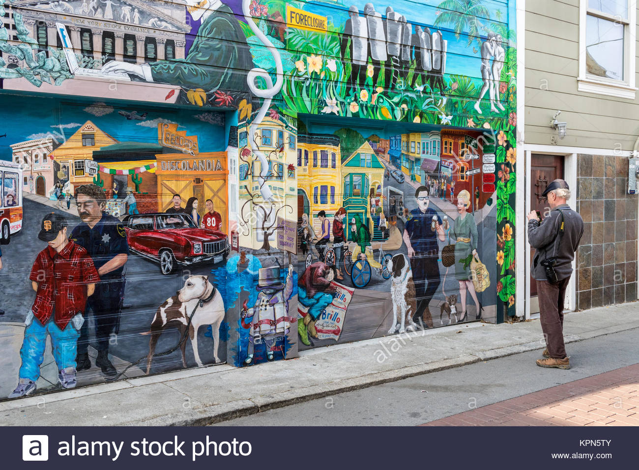 San francisco downtown mural stock photos san francisco for California mural