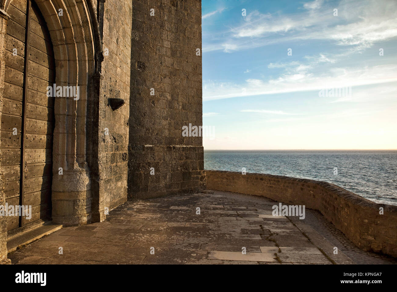 Church and sea - Stock Image