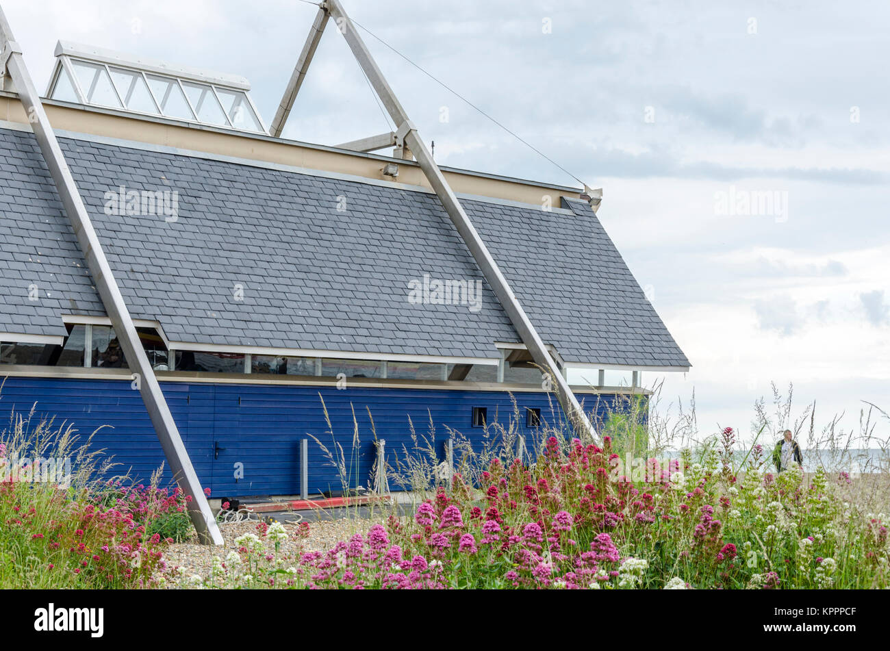 RNLI Aldeburgh Lifeboat Station. Aldeburgh English coastal town in Suffolk, UK - Stock Image
