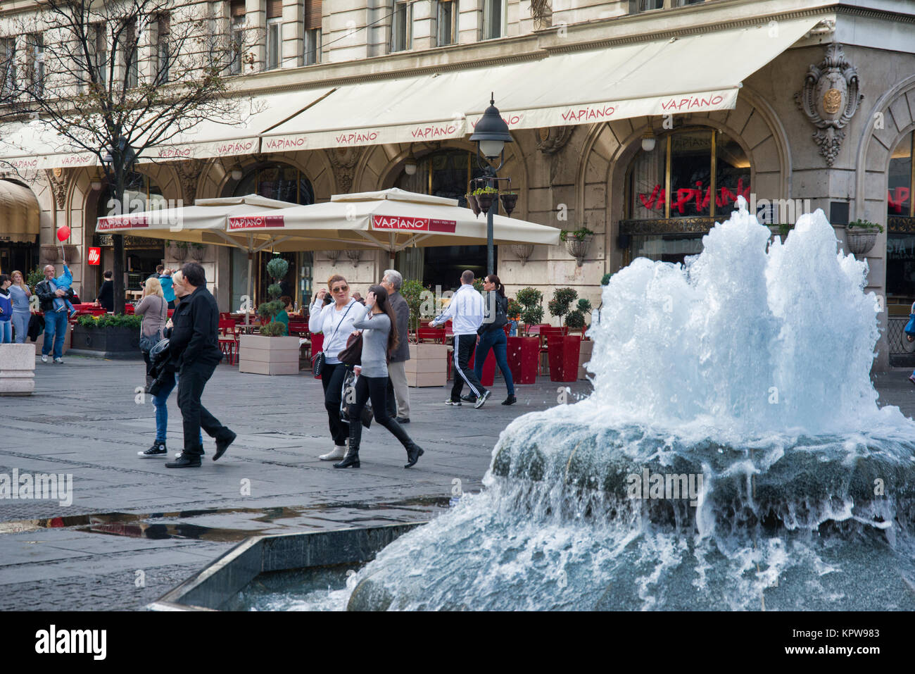 Shopping in the inner town of Belgrade, Serbia - Stock Image