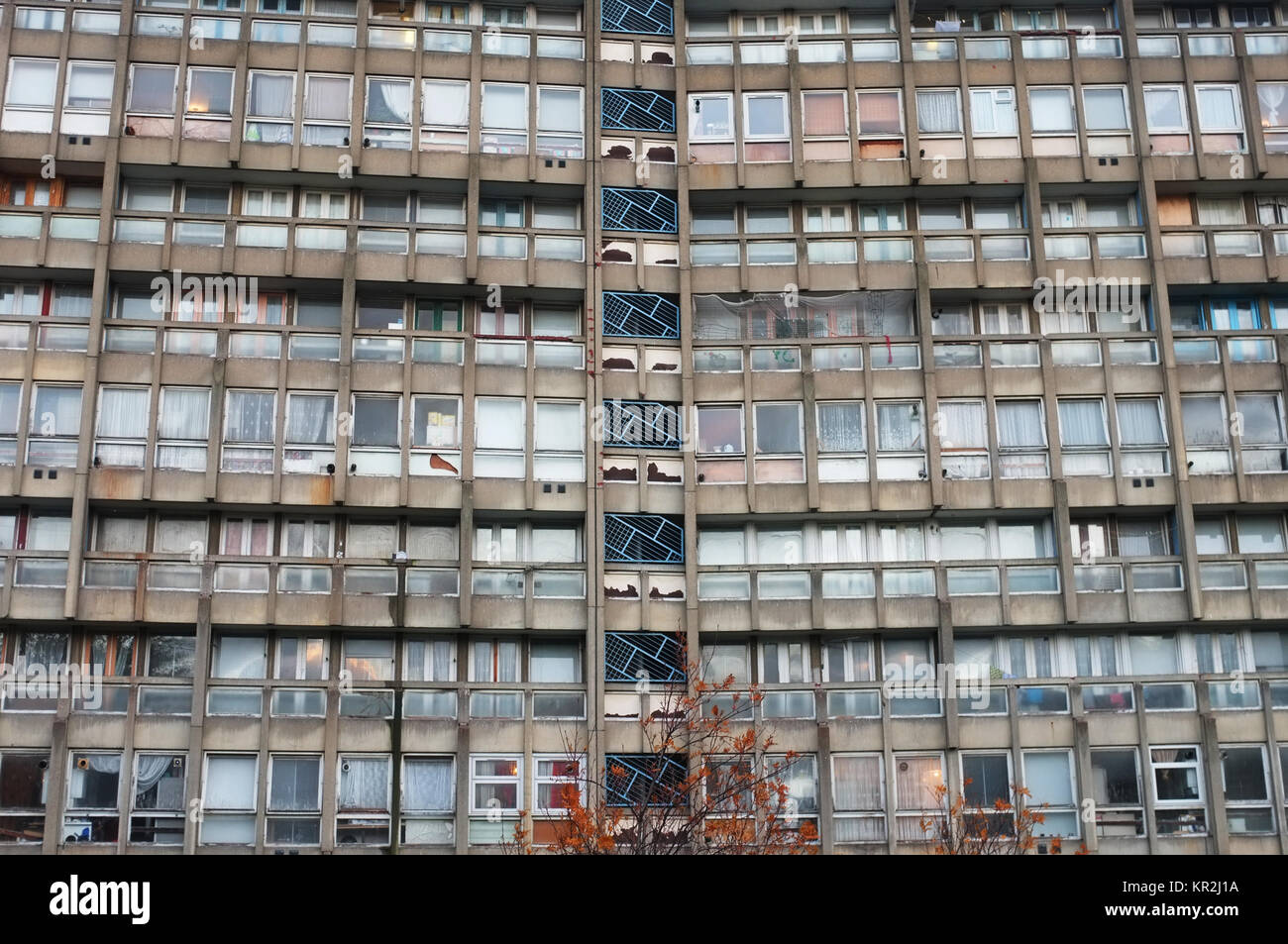 Robin Hood Gardens housing estate (before demolition), designed by Alison and Peter Smithson, Poplar, Tower Hamlets, - Stock Image