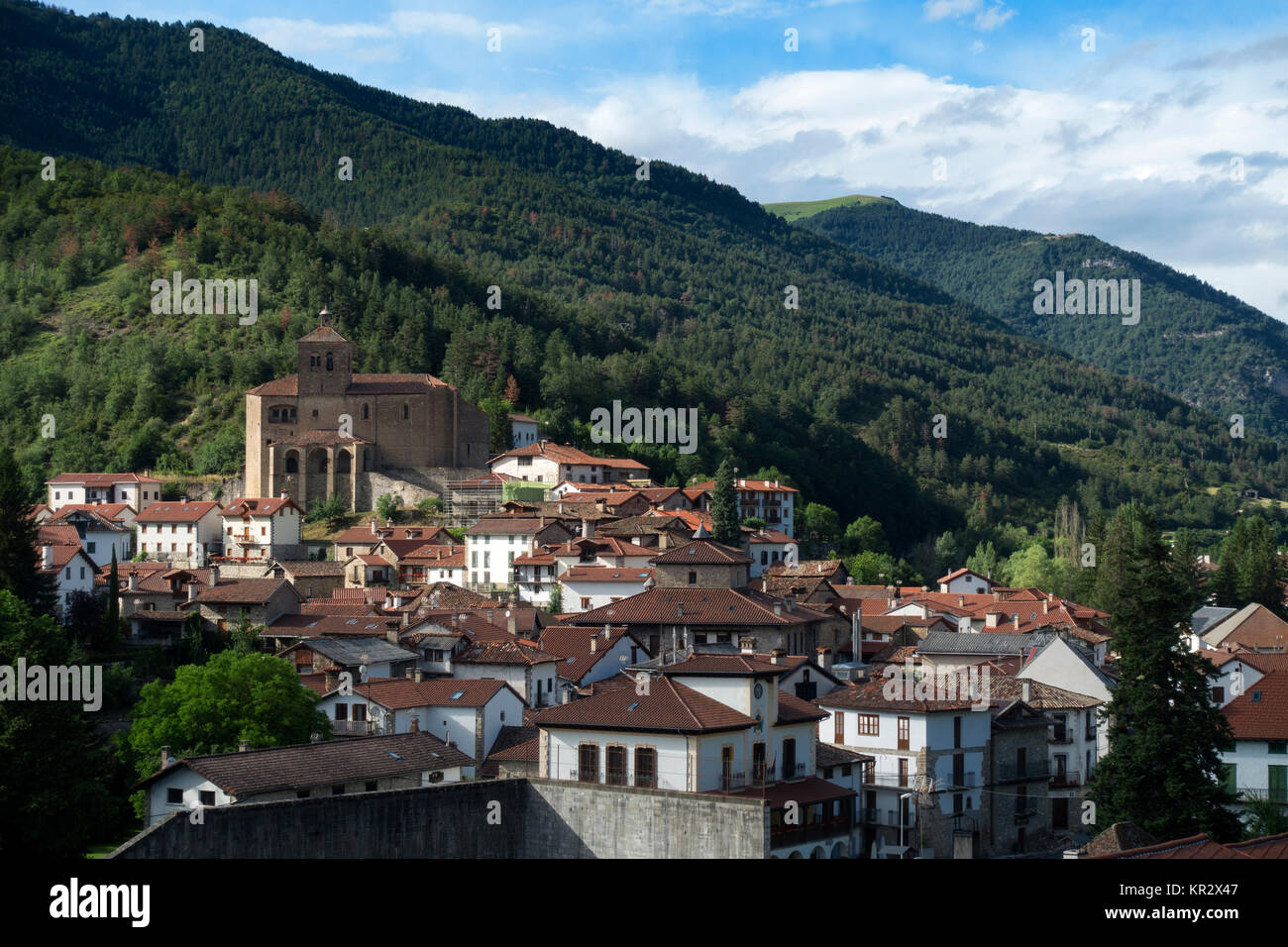 Roncal village.Roncal Valley.Navarra.Spain - Stock Image