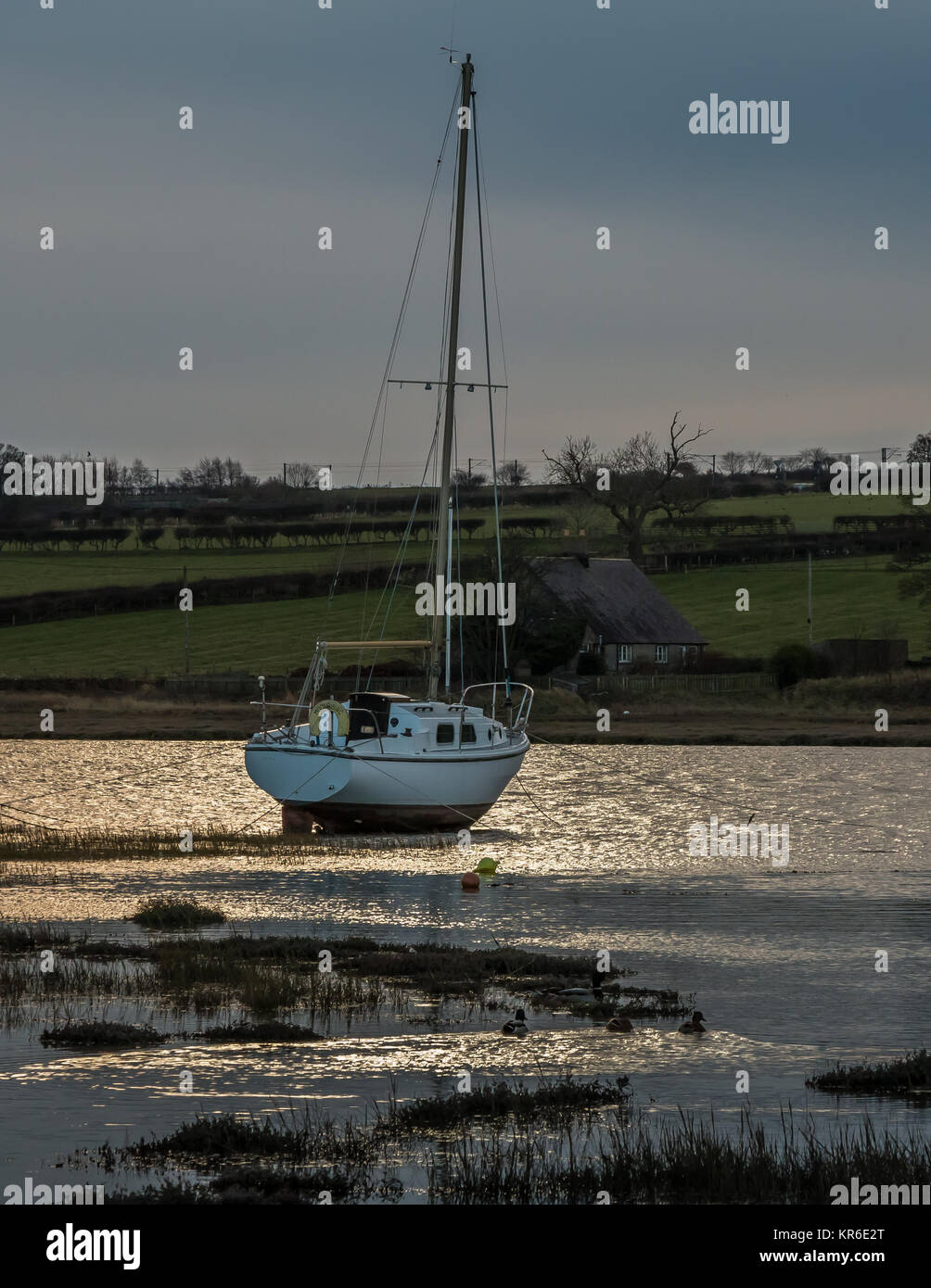 a-single-yacht-moored-in-alnmouth-harbou